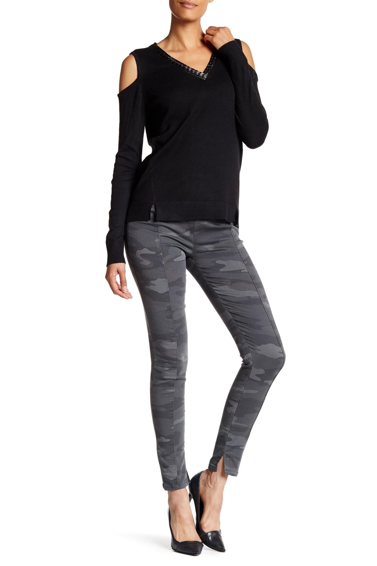 Lyst Democracy Camo Pull On Topstitched Jegging
