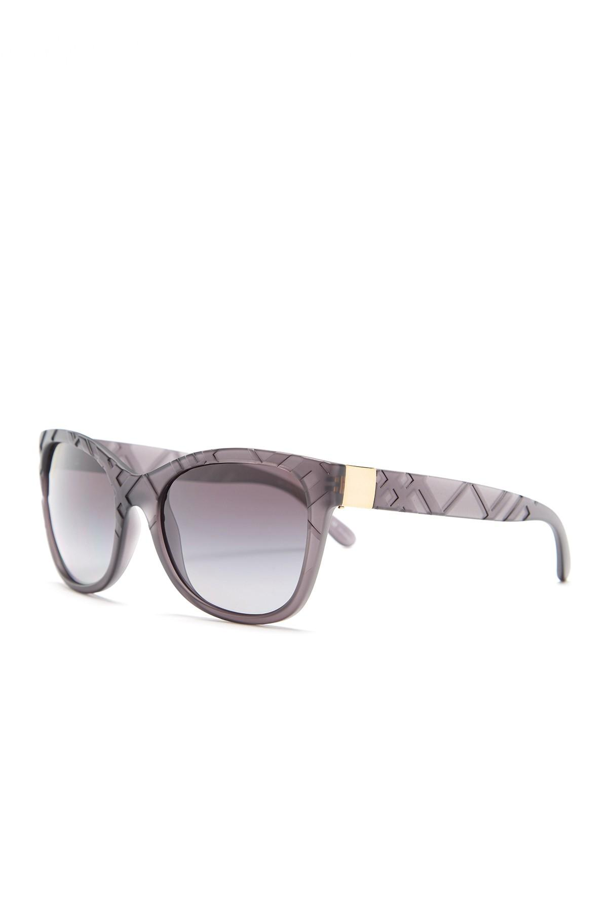 686768d7b2a Lyst - Burberry Women  39 s Square Injected Polarized Sunglasses in Gray