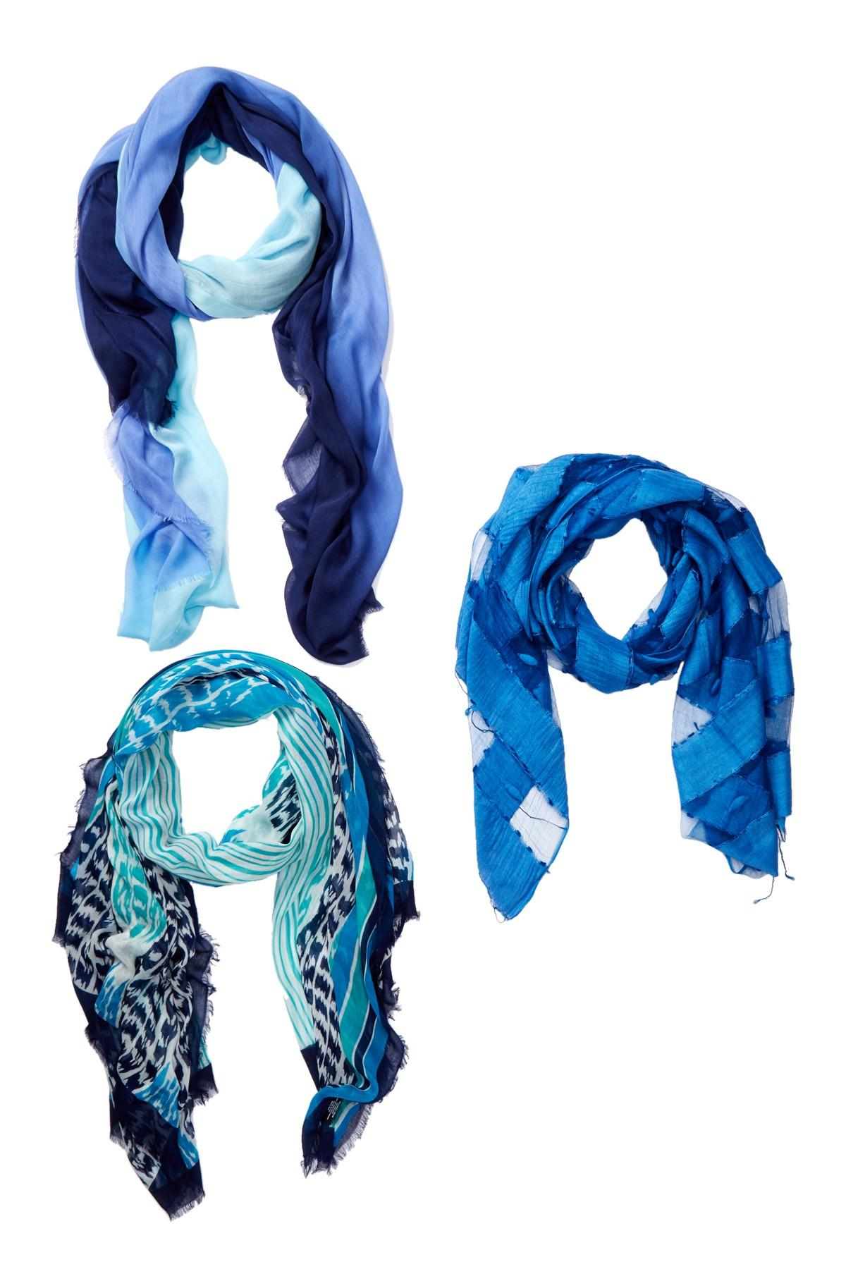 blue pacific monarch blend scarf in blue lyst