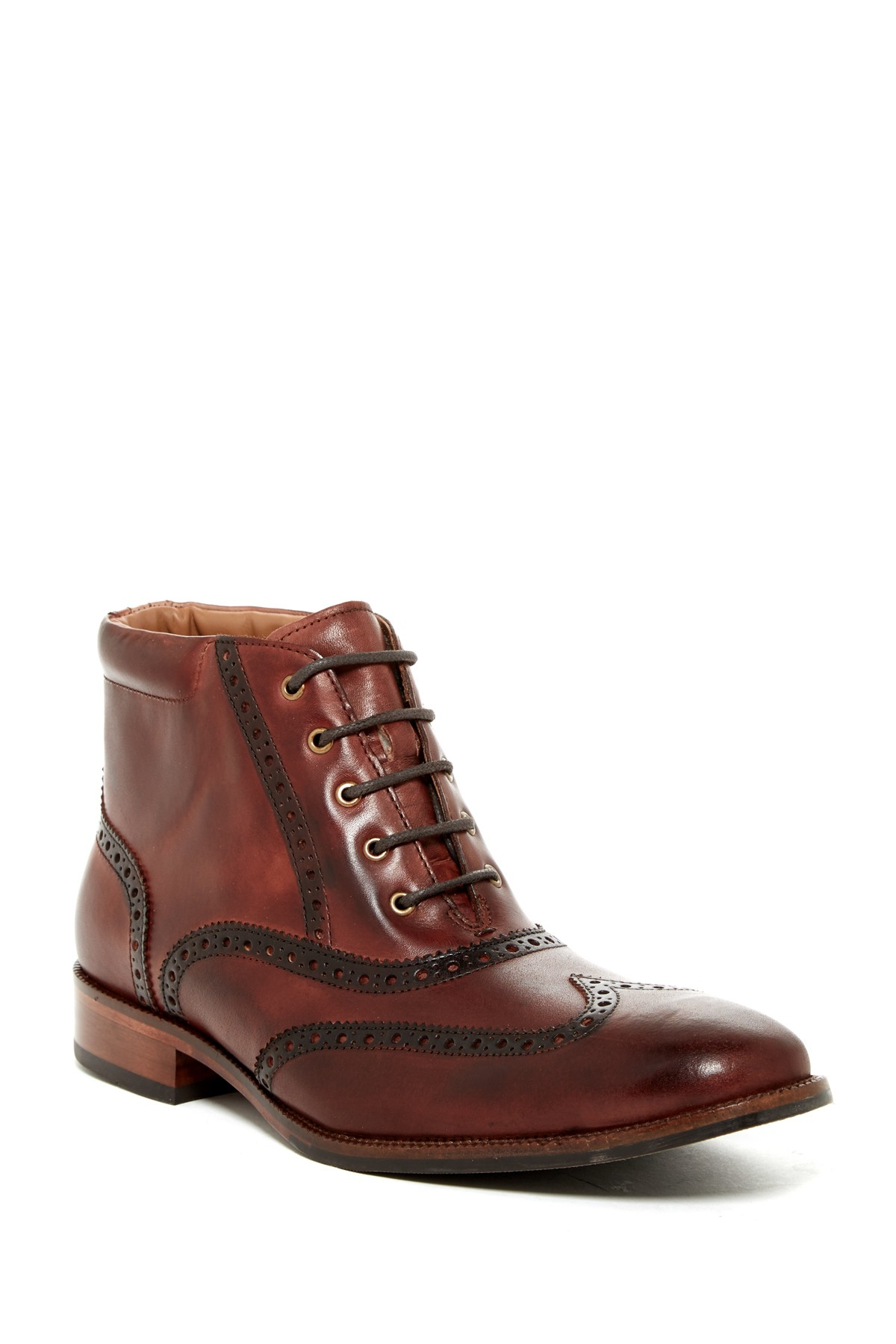 Brown Leather Shoes  Wide Width