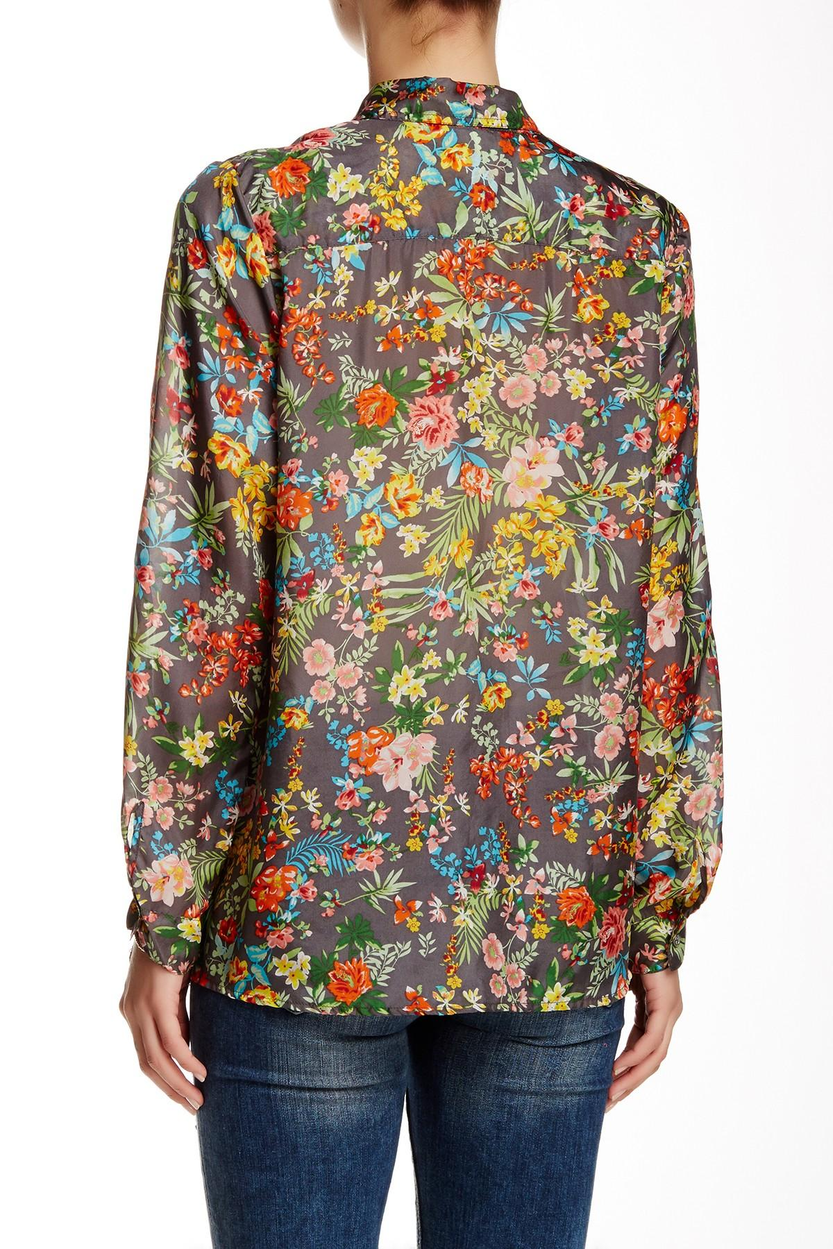 Lyst johnny was print silk blouse for Johnny was silk shirt