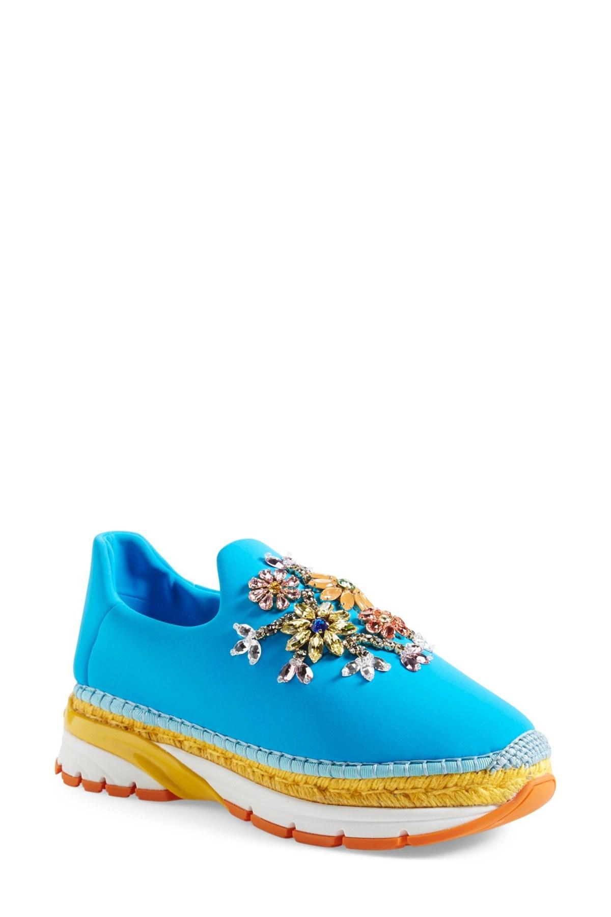 Dolce Amp Gabbana Crystal Embellished Sneaker Women In