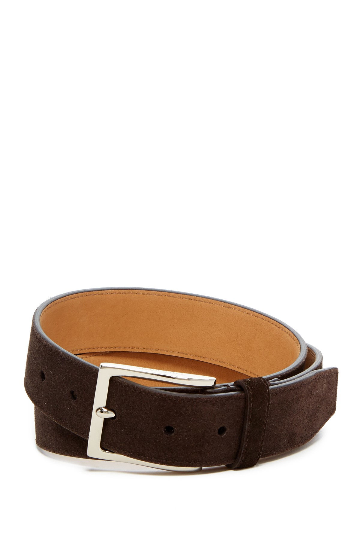 cole haan suede belt in brown for chocolate save