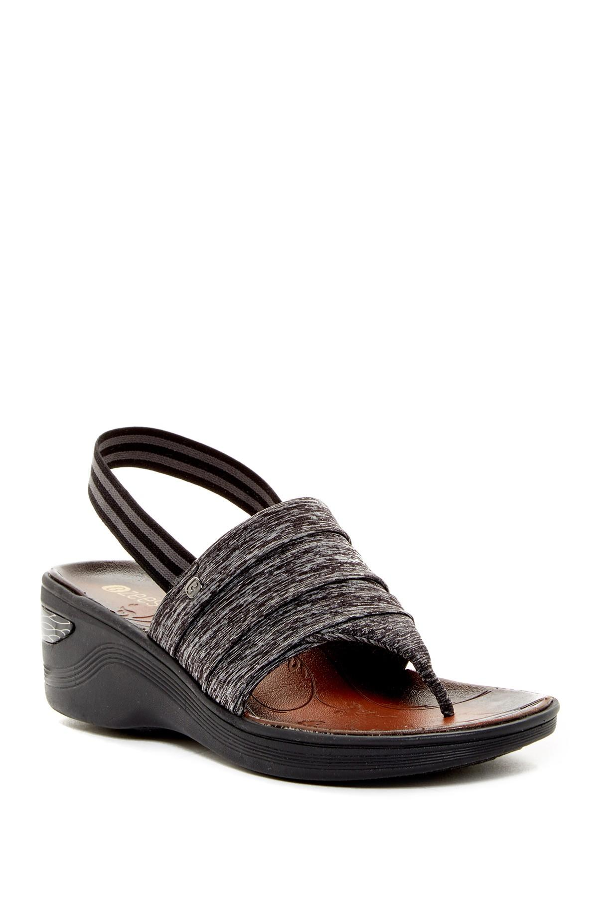 Lyst Bzees Dazzle Wedge Sandal In Black