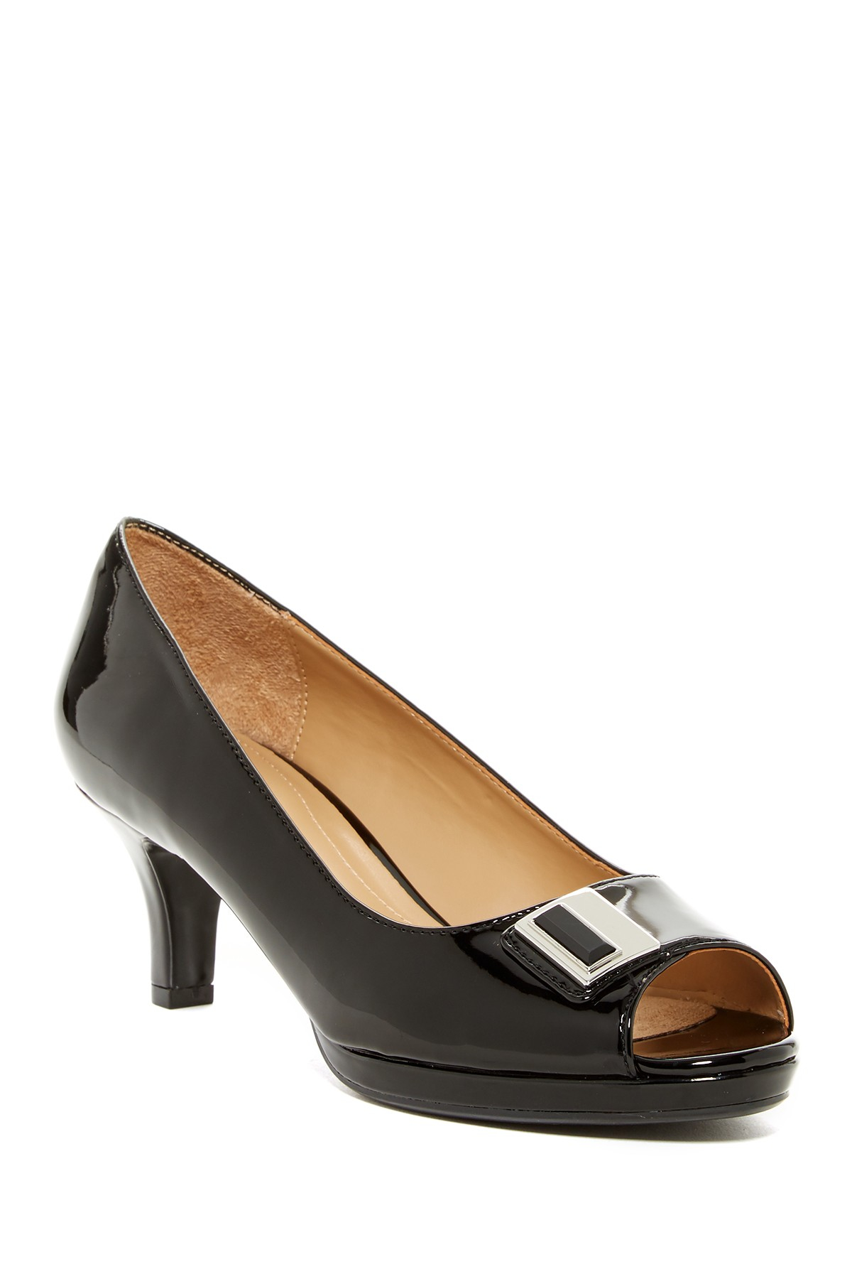 f90759403645 Lyst - Naturalizer Hark Mid Peep-toe Pump - Wide Width Available in ...