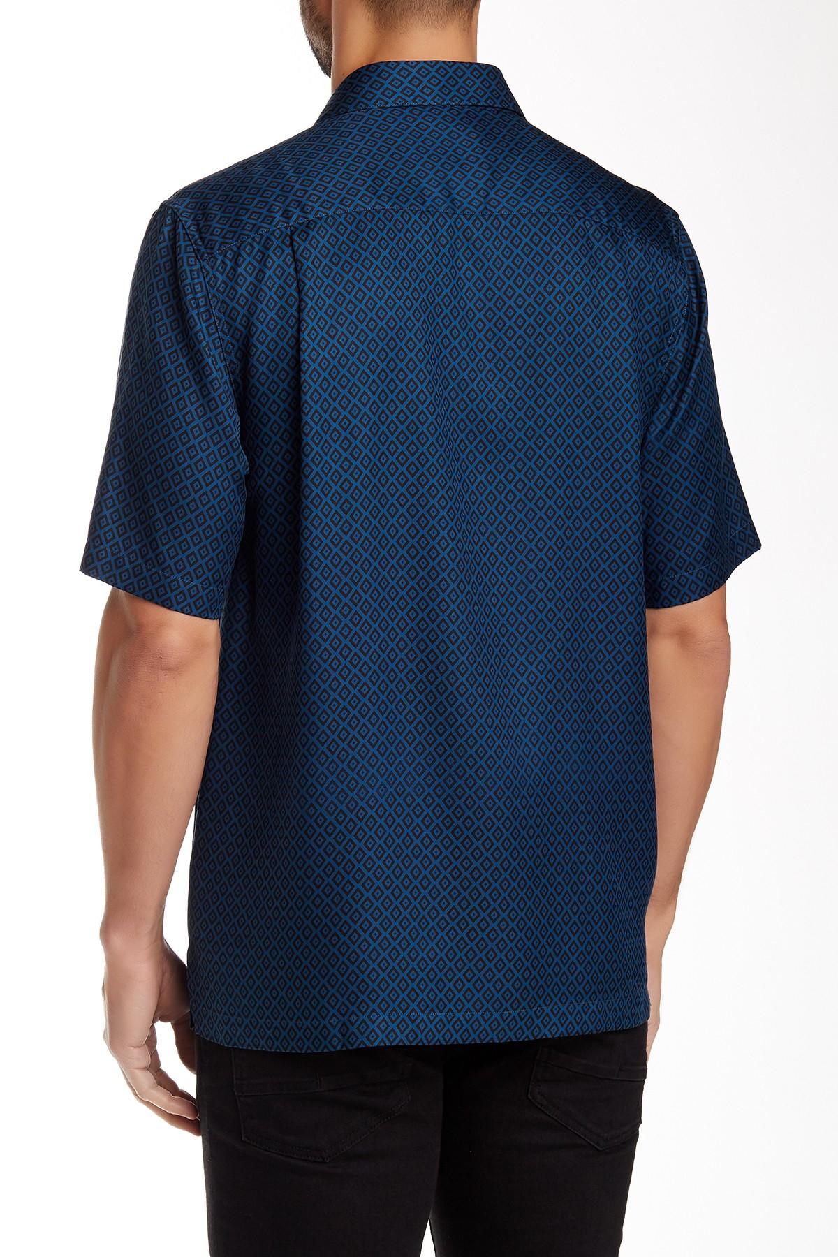 Lyst Nat Nast Leica Short Sleeve Regular Fit Silk Shirt