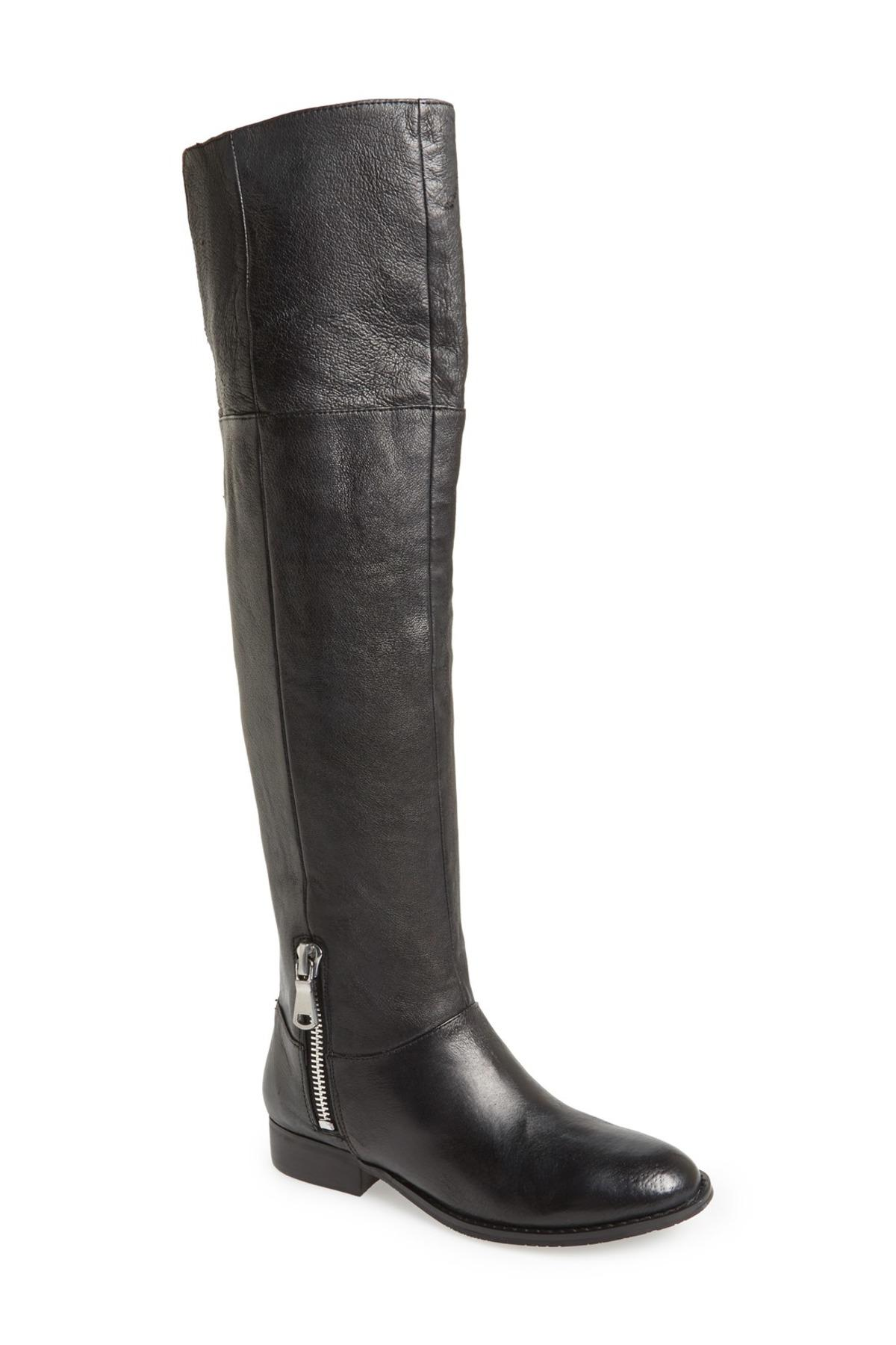 Chinese Laundry Fawn Leather Riding Boot In Black Lyst