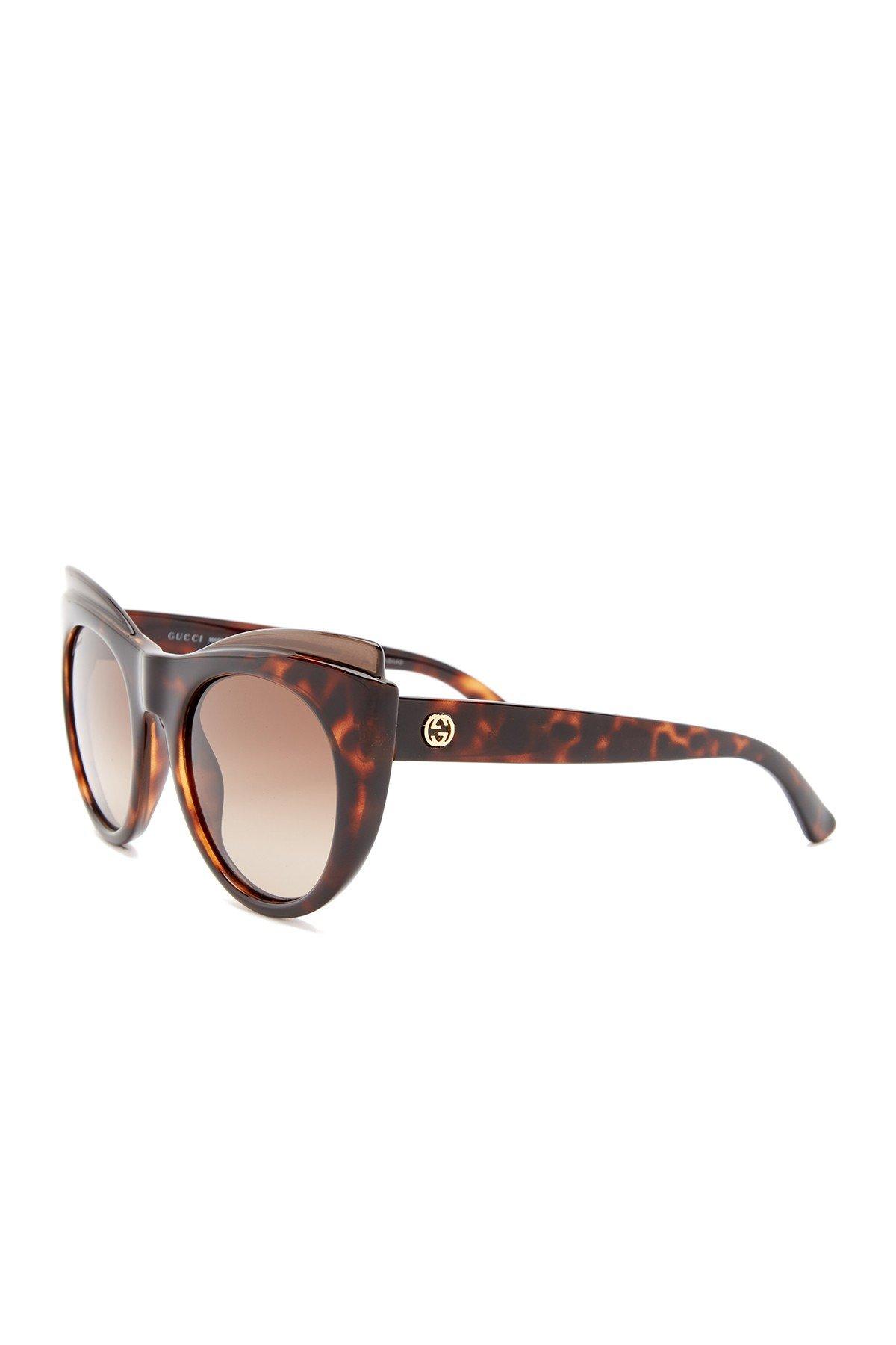 5b0daf20ba Lyst - Gucci Women  39 s Cat Eye Acetate Sunglasses in Brown