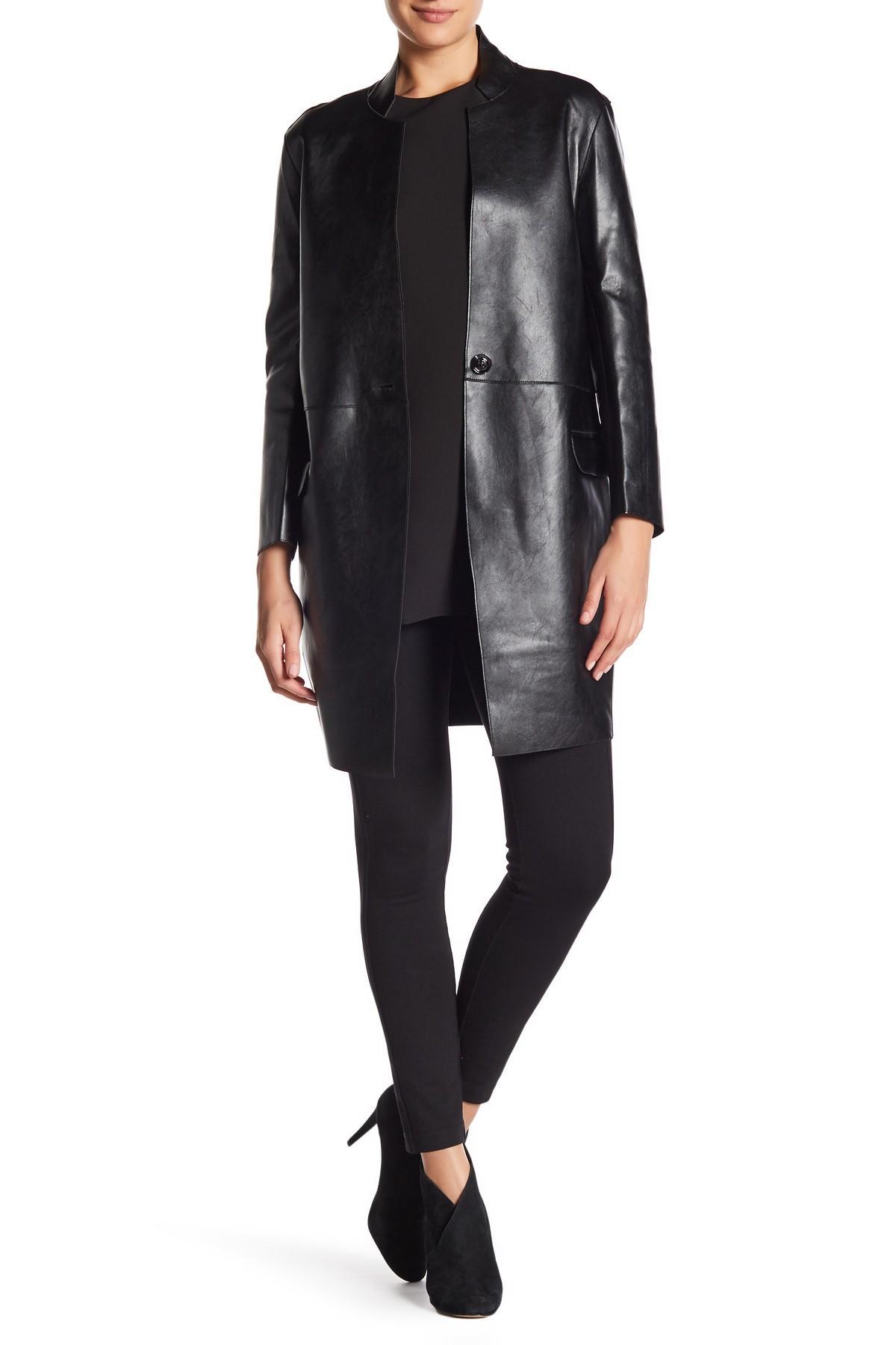Gracia Faux Leather Jacket In Black Lyst