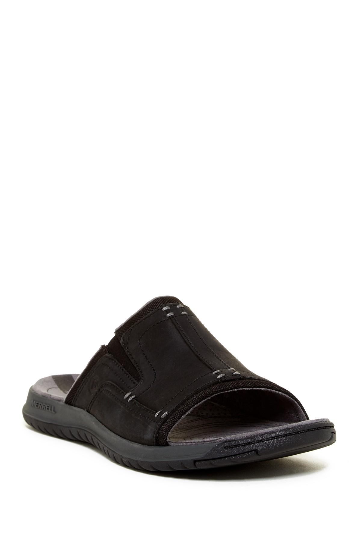 37488081bd2d Lyst - Merrell Traveler Tilt Slide Sandal in Black for Men