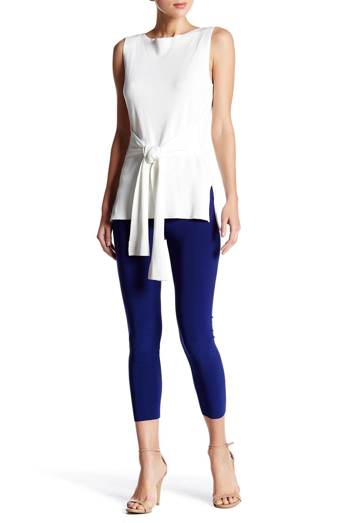 Lyst norma kamali tapered legging in blue - Norma kamali costumi da bagno ...