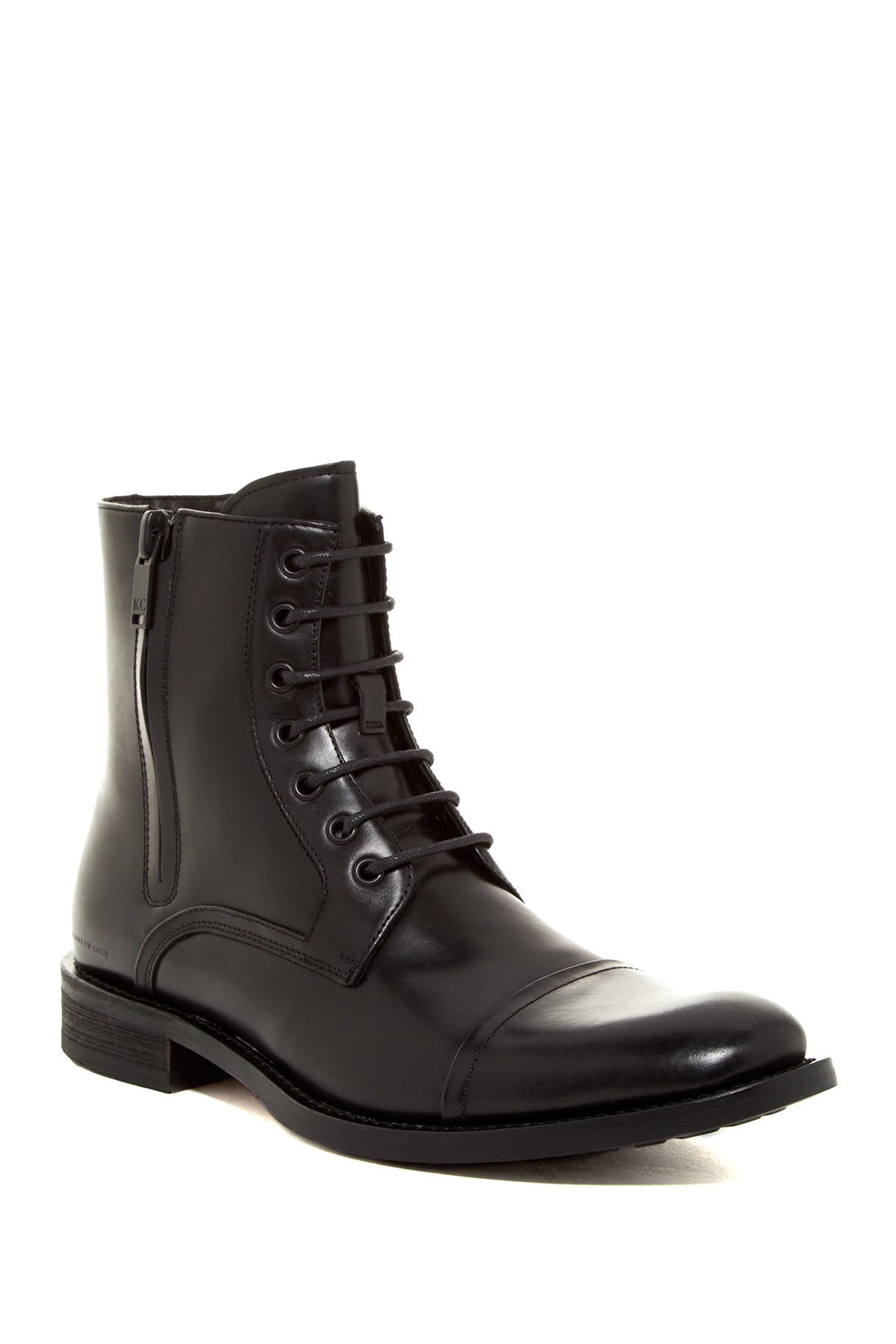 Lyst Kenneth Cole Mind Over Matter Cap Toe Boot In Black
