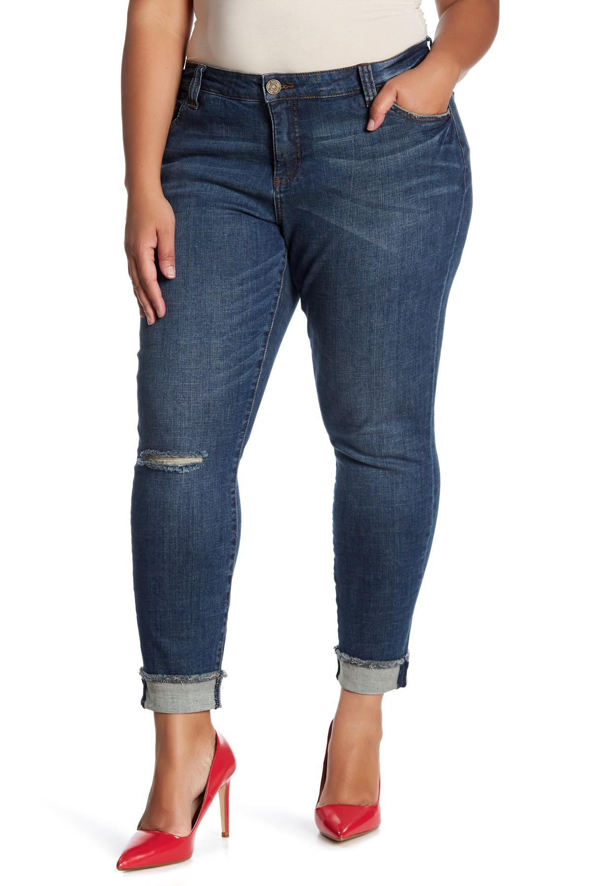 291fc61b1412a Lyst - Kut From The Kloth Asher Straight Leg Jean (plus Size) in Blue