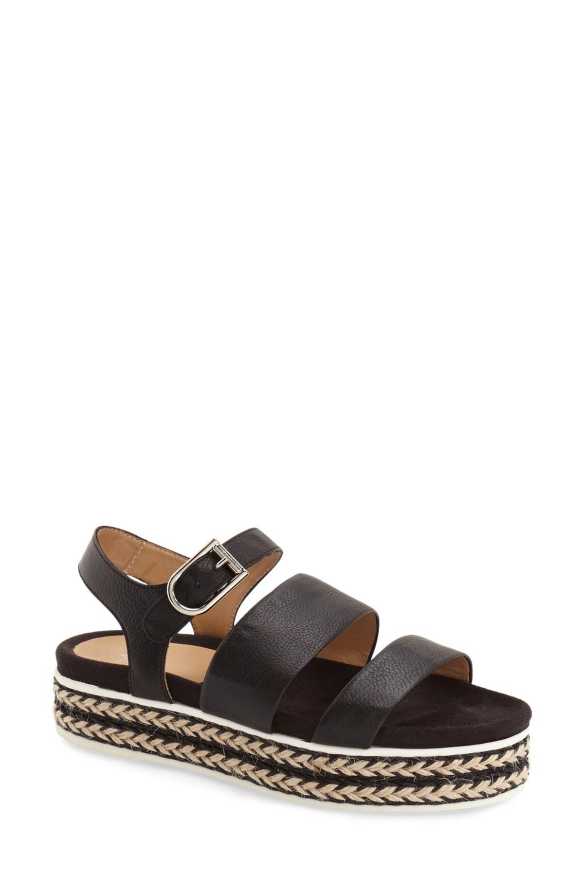Aquatalia Celina Platform Sandal Women In Black Lyst