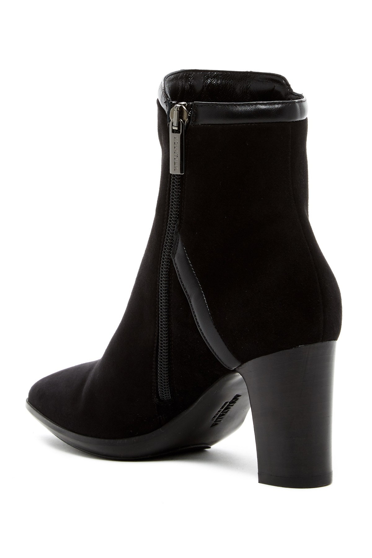 Lyst Aquatalia Whitley Suede Ankle Boots In Black
