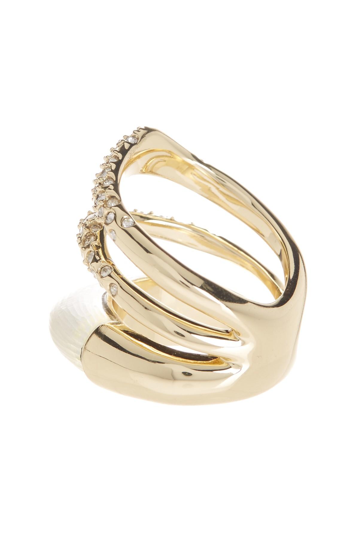 Lyst Alexis Bittar Lucite Crystal Encrusted Orbital Ring