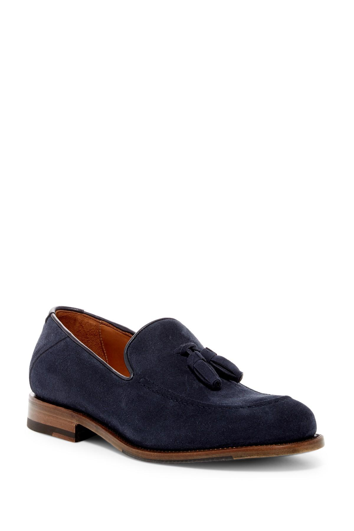 Aquatalia Falco Weatherproof Suede Loafer In Blue For Men