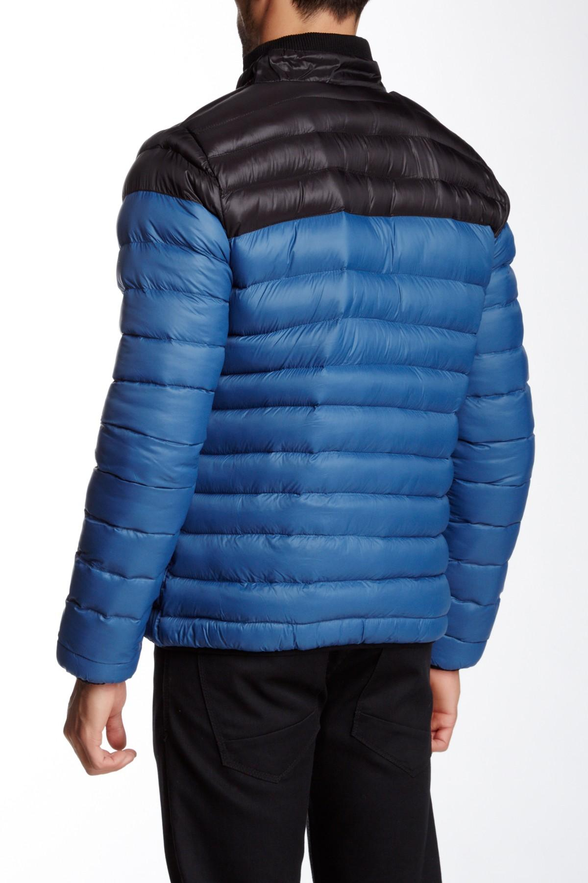 Lyst Indigo Star Quilted Bomber Jacket In Blue For Men