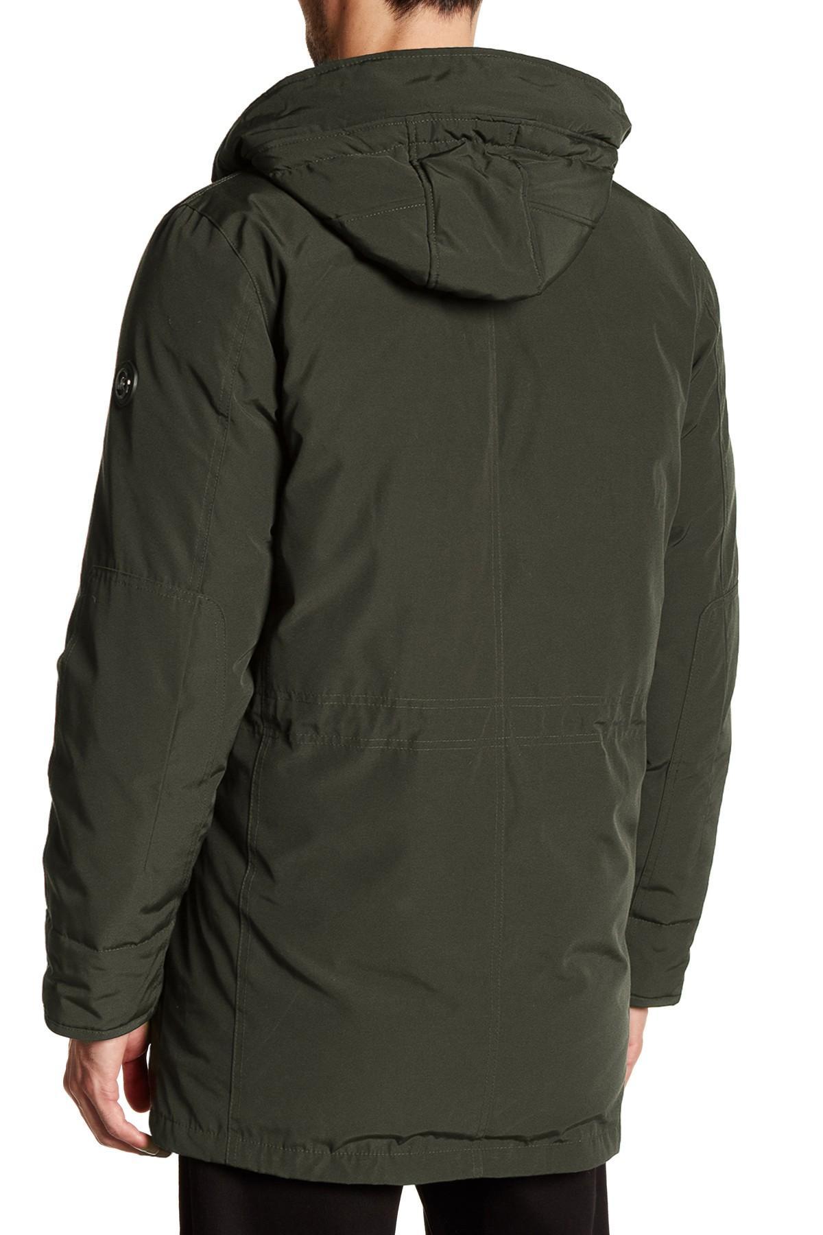 Lyst - Michael kors Faux Fur Max Coat in Green for Men