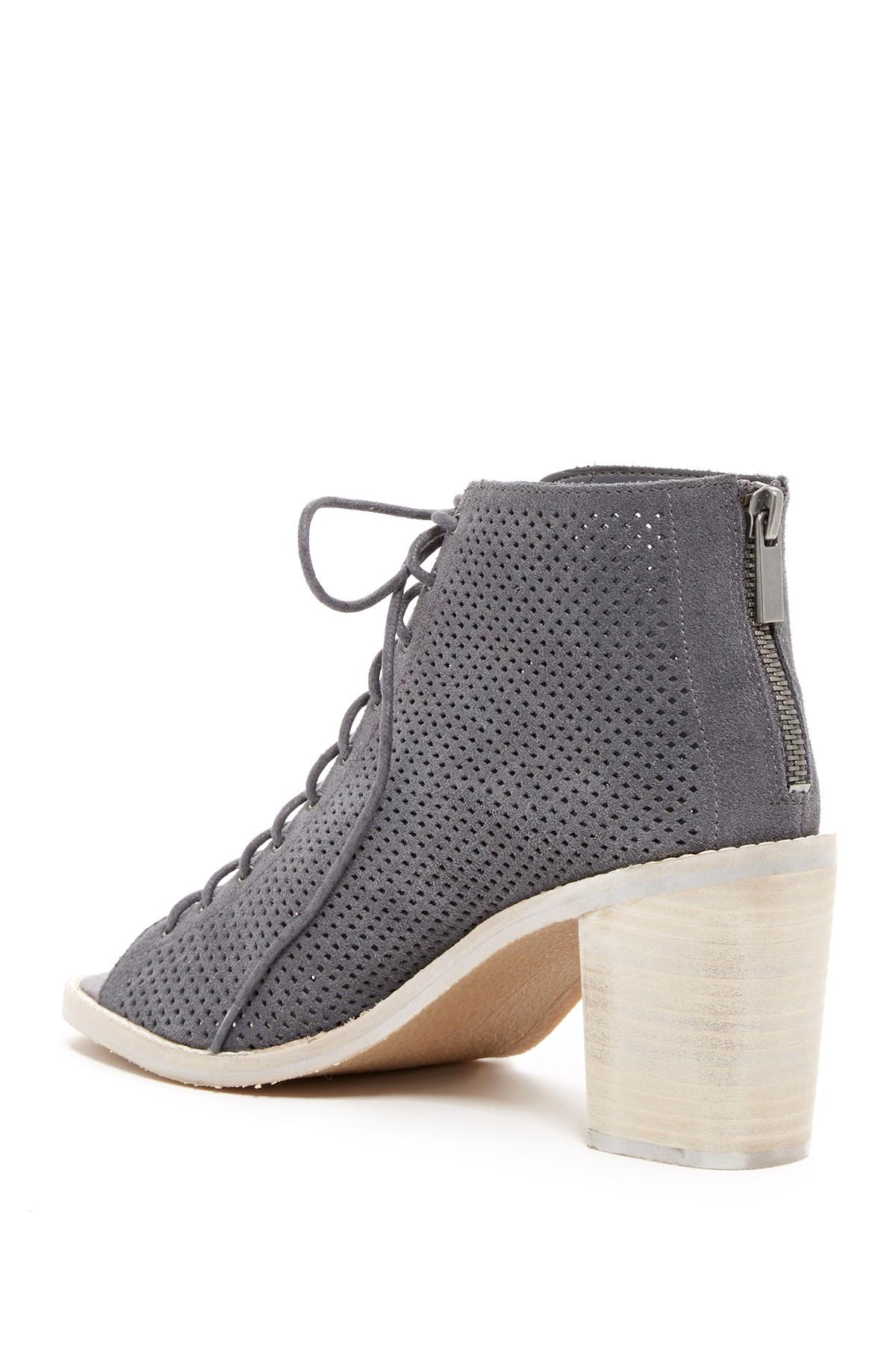 452e745e92e Dolce Vita Morie Perforated Heeled Sandal in Gray - Lyst