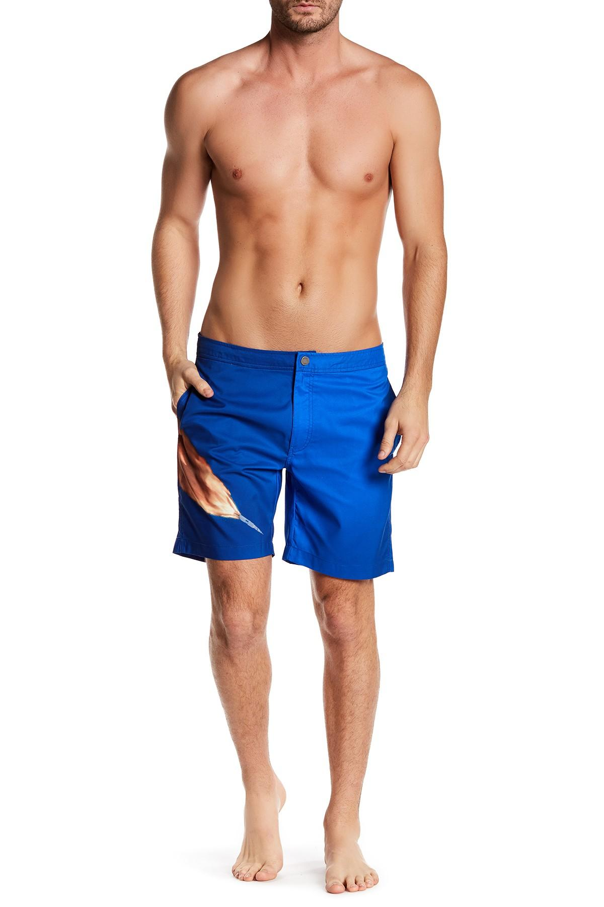 7fe2ef4a88837 Onia Calder Nasa Print Swim Trunk in Blue for Men - Lyst
