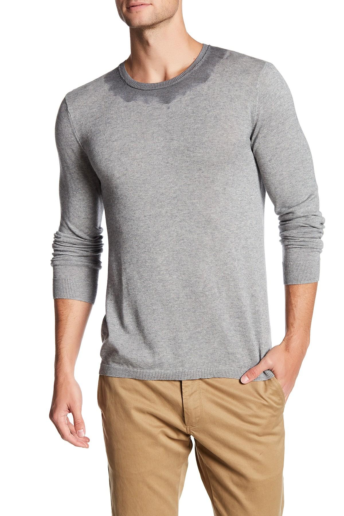 Autumn cashmere Dip Dyed Collar Tee in Gray for Men