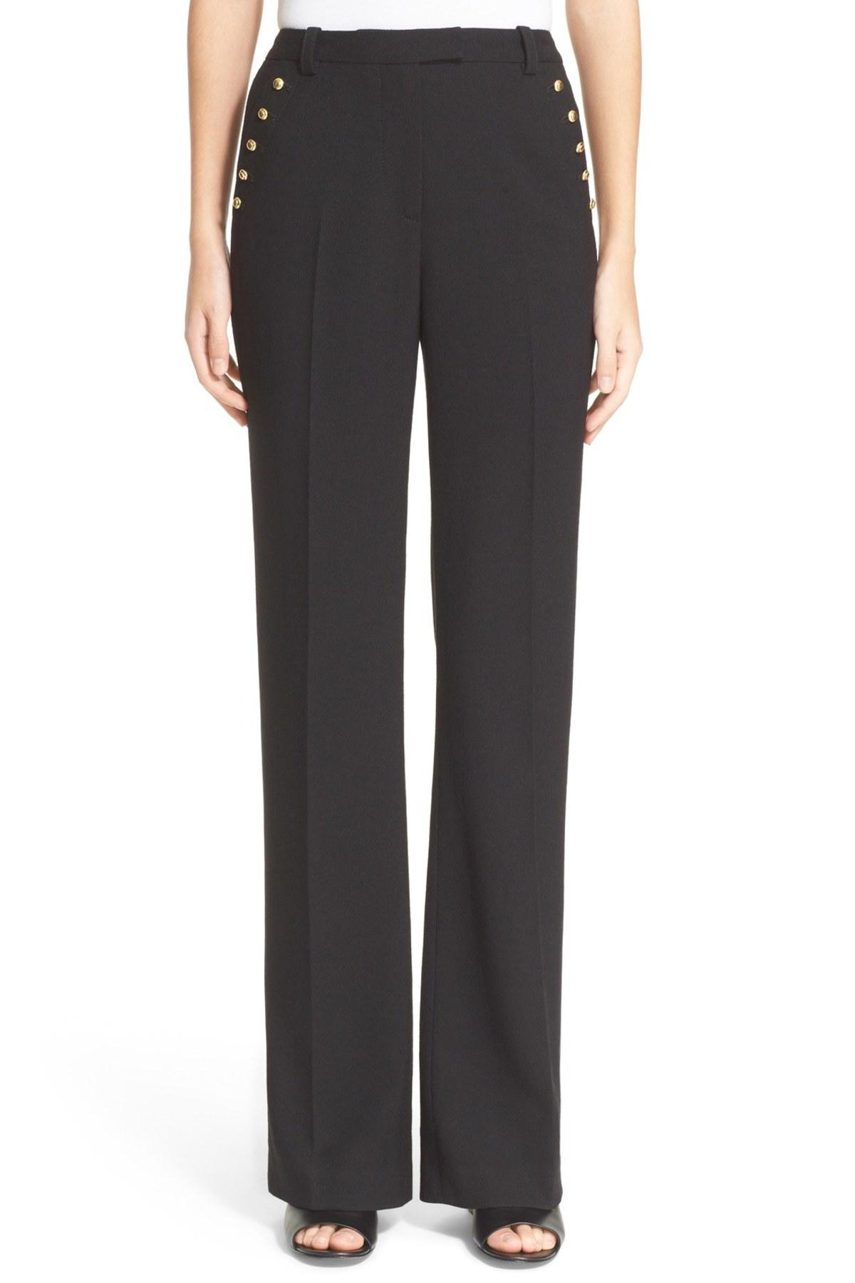 3.1 phillip lim Button Detail Pants in Black - Save 47% | Lyst