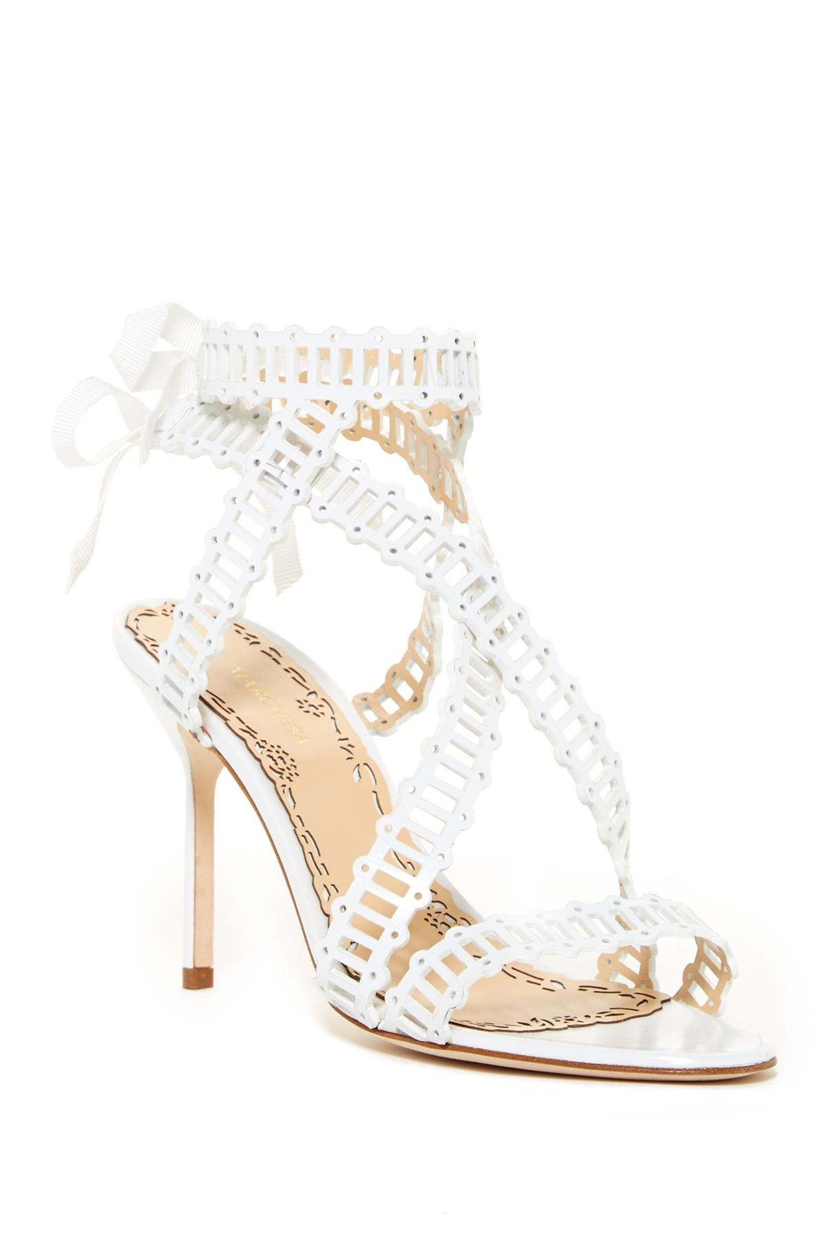 ed93f1f74a Lyst - Marchesa Sarah Dress Sandal in White