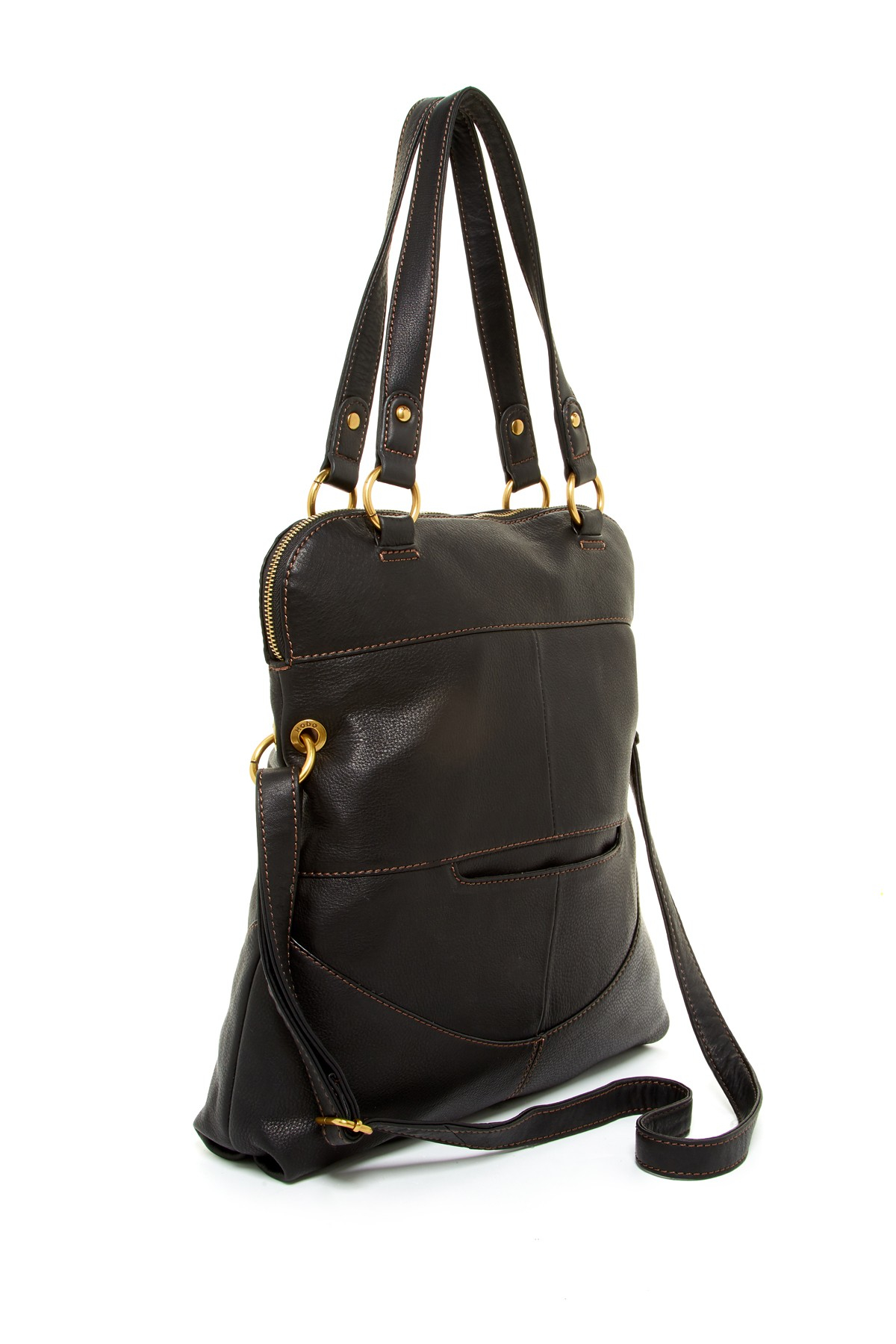 Lyst Hobo Ridge Leather Shoulder Bag In Black