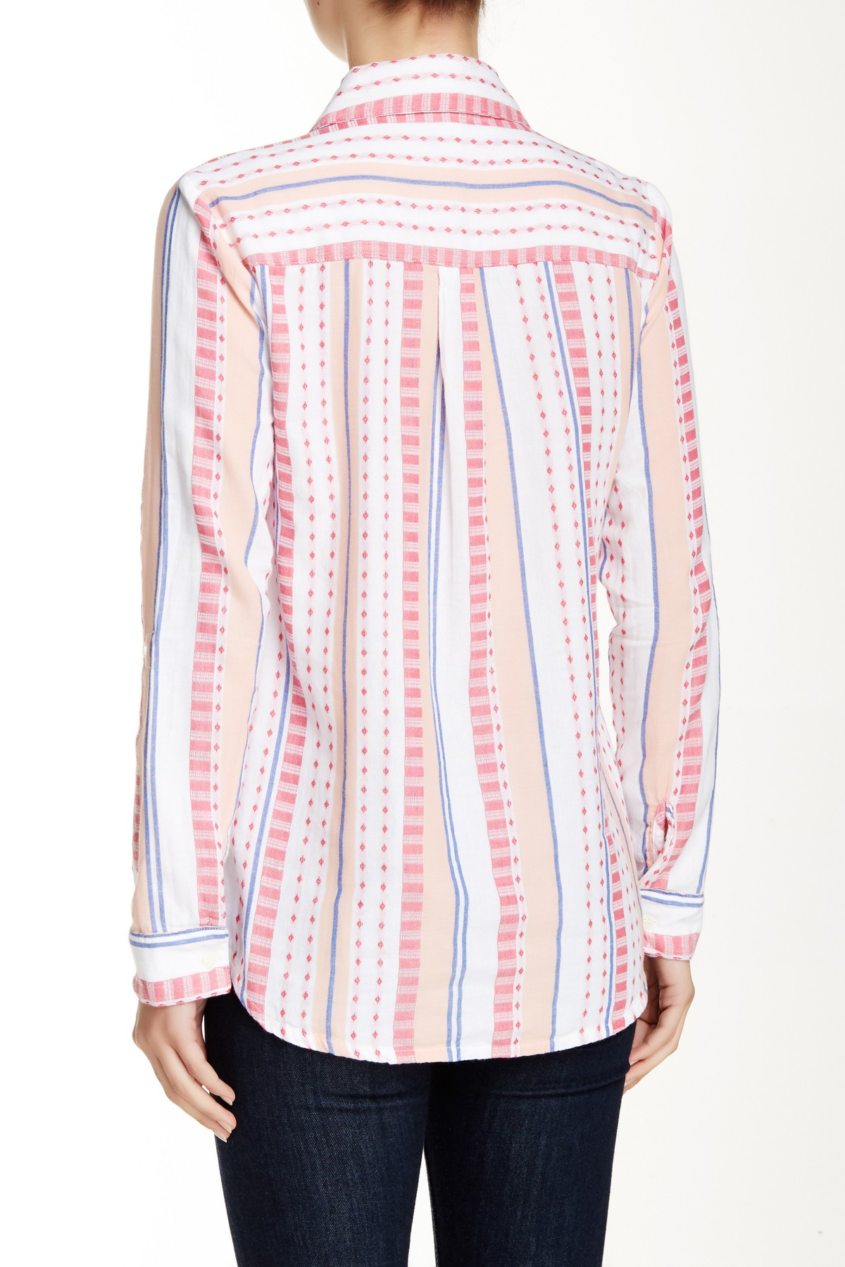 2c35a2874 Lyst - Splendid Henley Embroidered Shirt in Pink