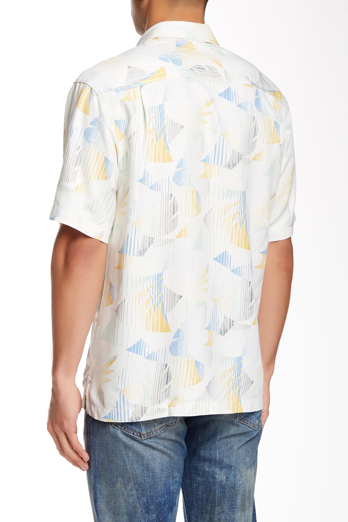 Tommy Bahama Lunar Lins Original Fit Short Sleeve Silk