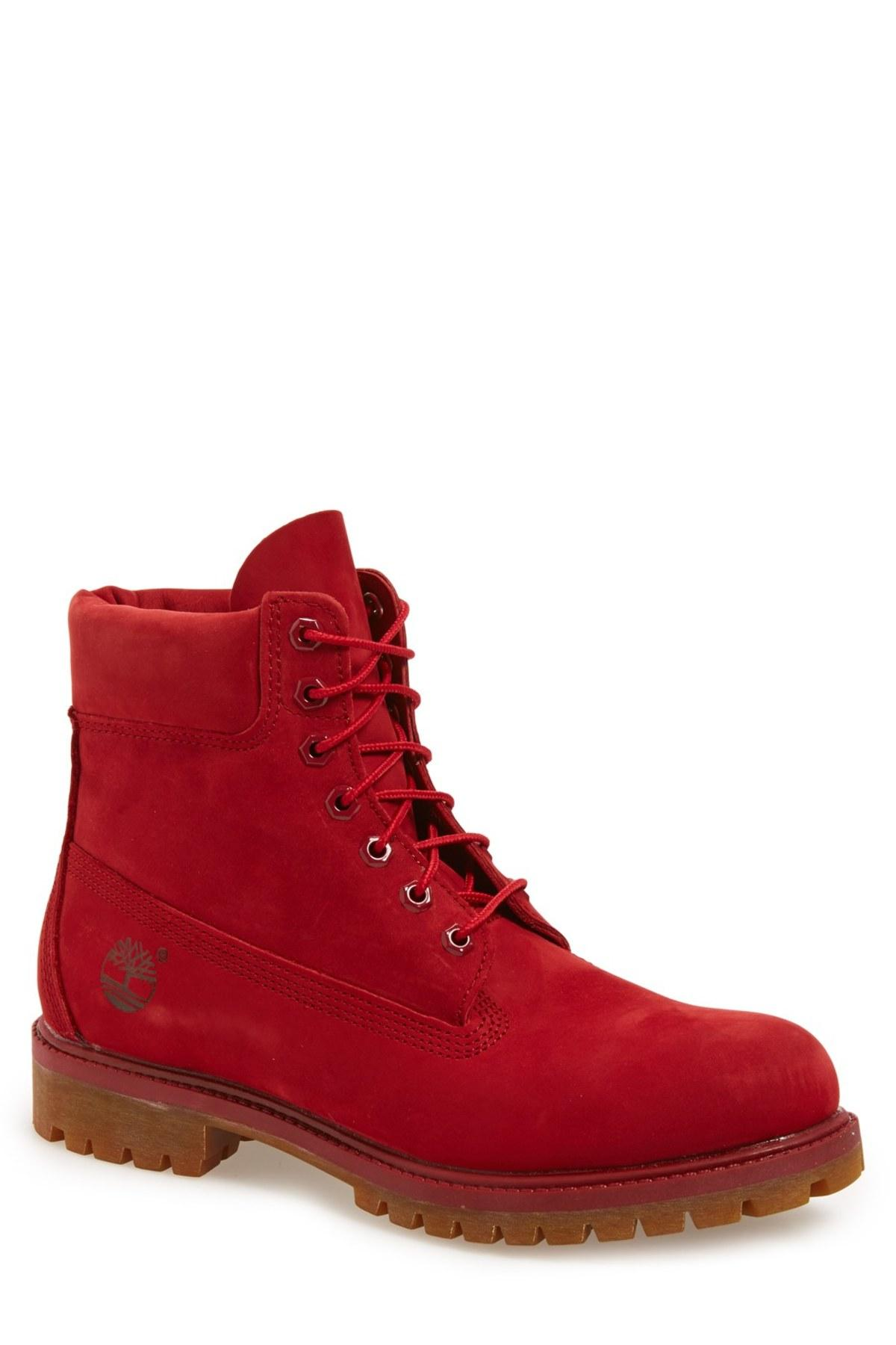 Lyst - Timberland 'red Collection' Plain Toe Boot (men) in ...