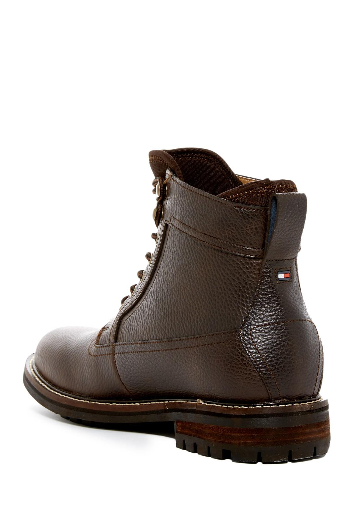lyst tommy hilfiger hollins boot in brown for men. Black Bedroom Furniture Sets. Home Design Ideas
