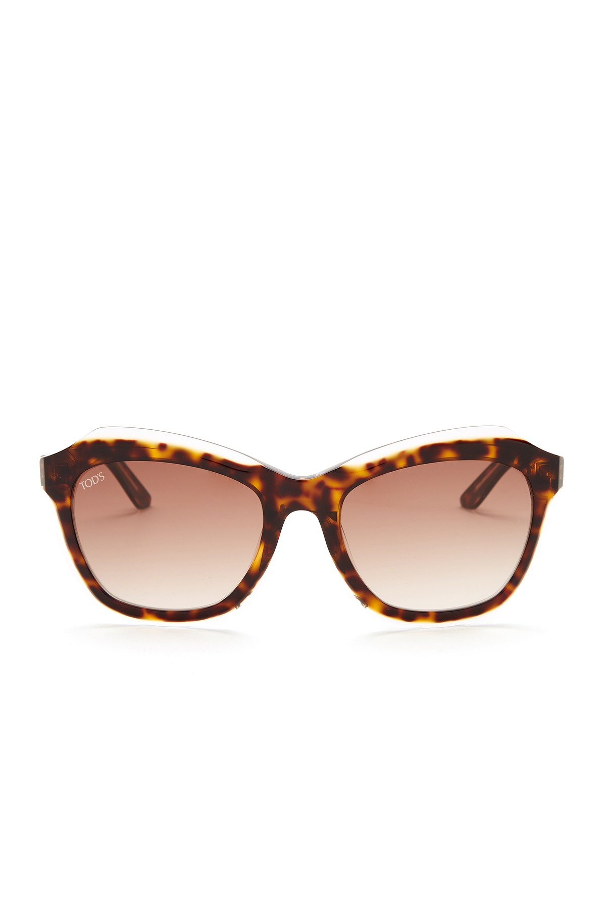 Tods Womens Cat Eye Acetate Frame Sunglasses in Brown Lyst