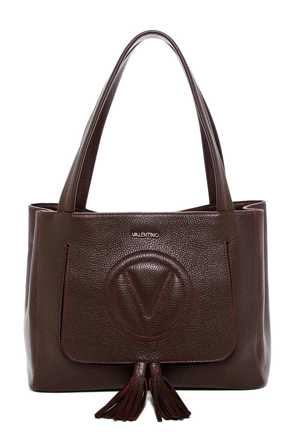 valentino by mario valentino estelle leather shoulder bag. Black Bedroom Furniture Sets. Home Design Ideas