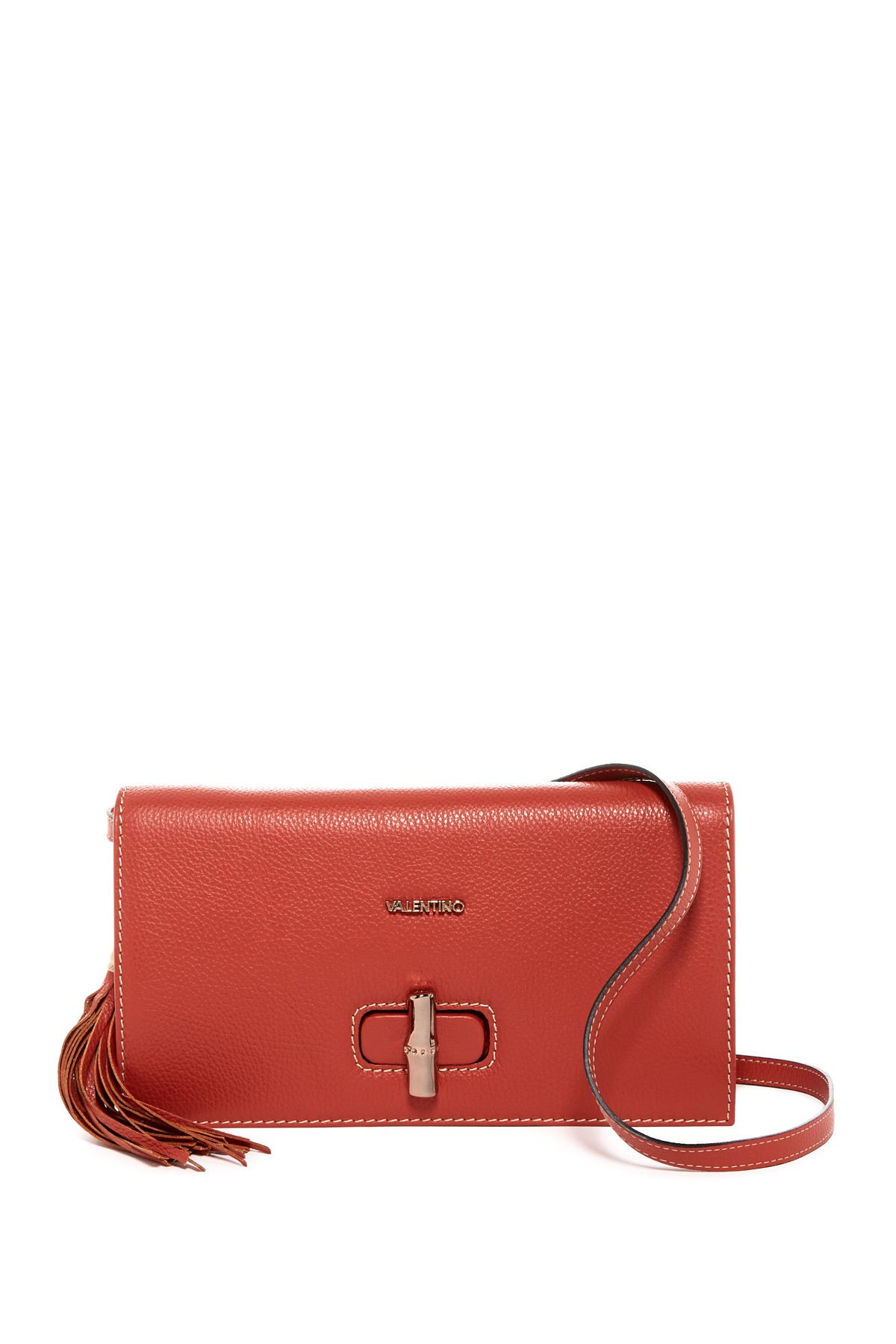 Valentino by mario valentino Elsa Leather Crossbody in Red ...