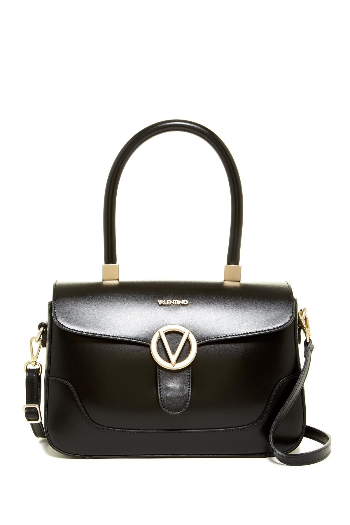 88b1fe7529d Lyst - Valentino By Mario Valentino Gaelle Leather Satchel in Black