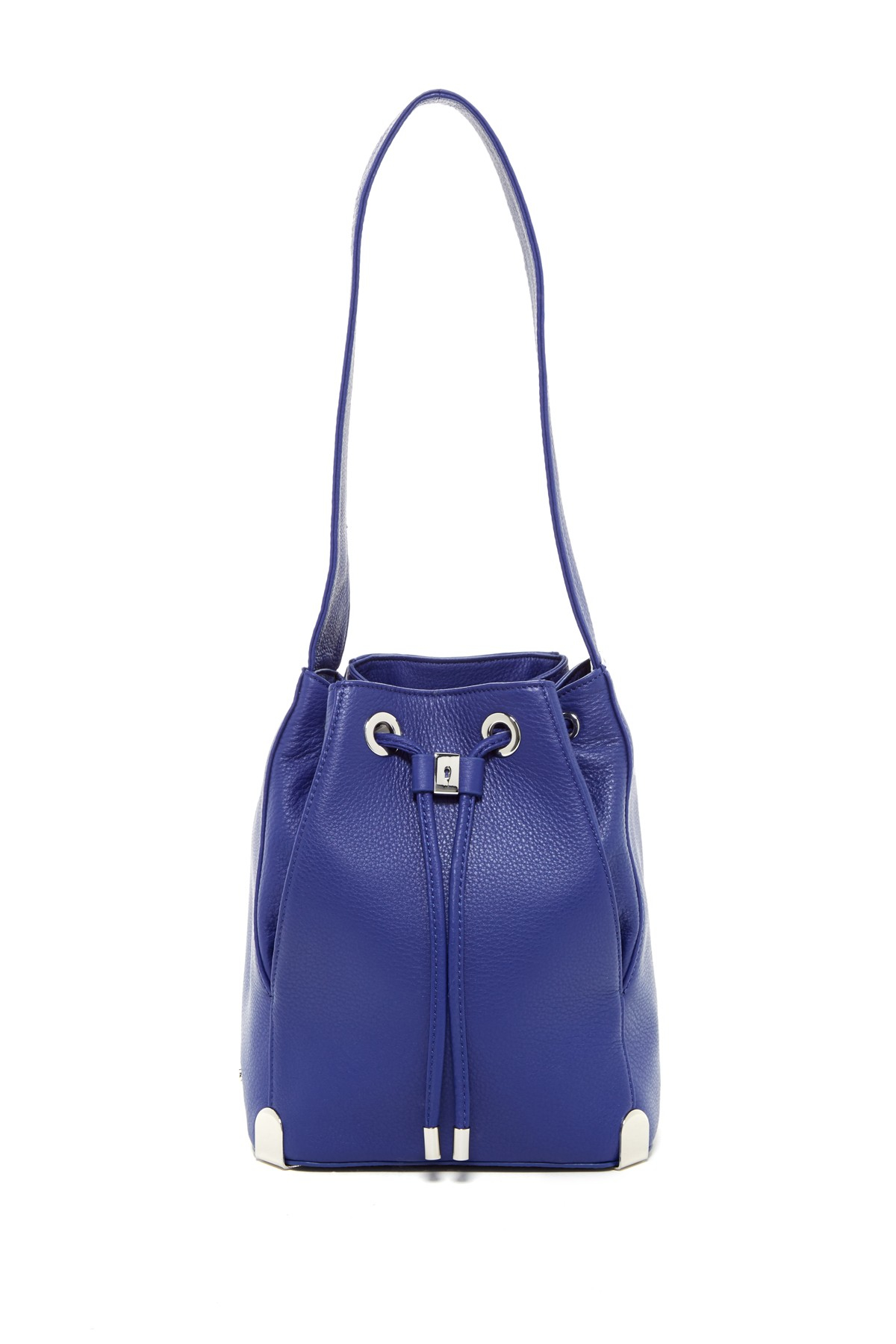 Vince camuto Janet Leather Drawstring Handbag in Blue