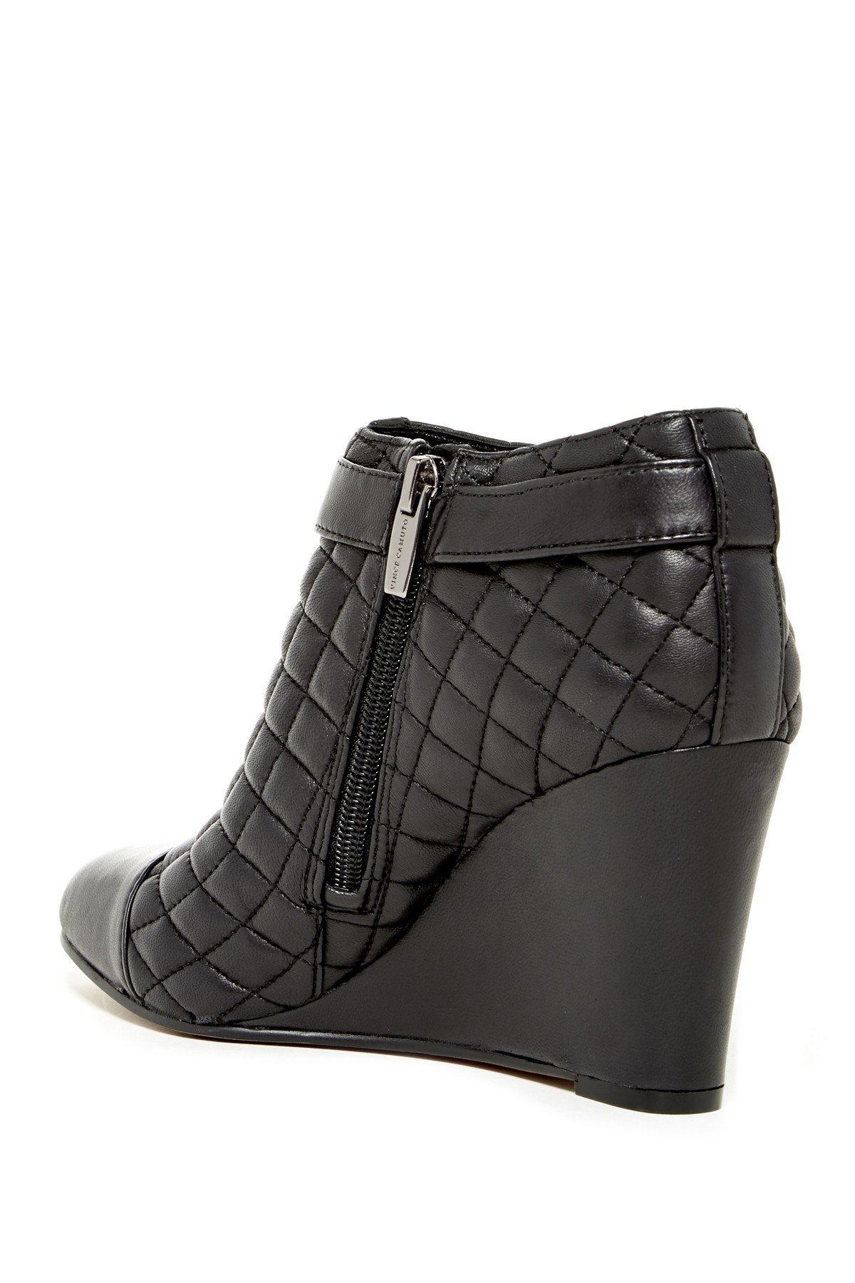 Vince Camuto Loore Quilted Wedge Boots In Black Lyst