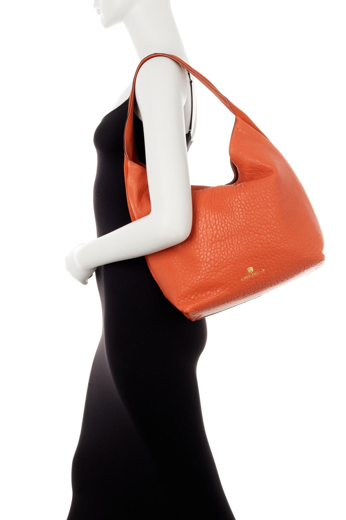 Lyst Vince Camuto Rita Leather Hobo Bag In Orange