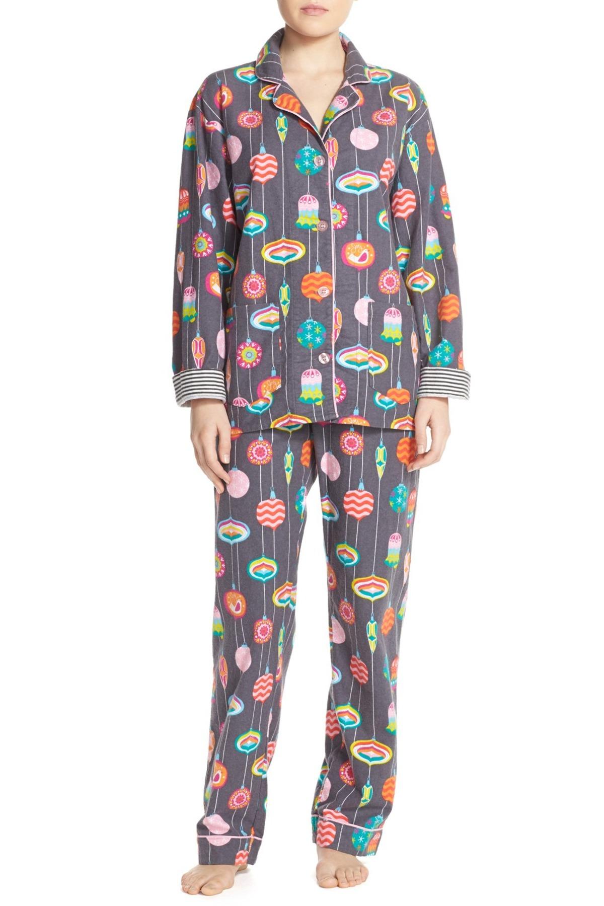 08786e1da7d1 Pj Salvage Print Flannel Pajama Set in Blue - Lyst