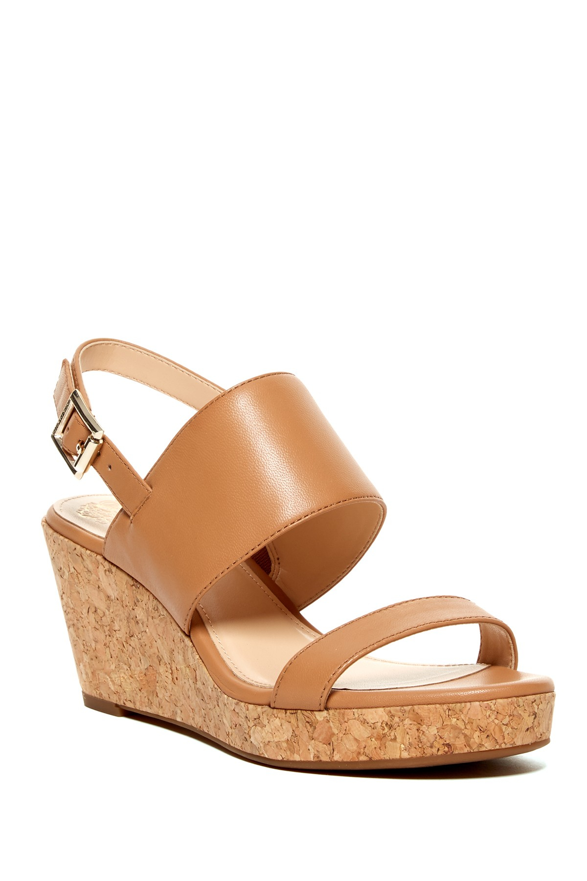Vince Camuto Ansel Wedge Sandal In Brown Lyst