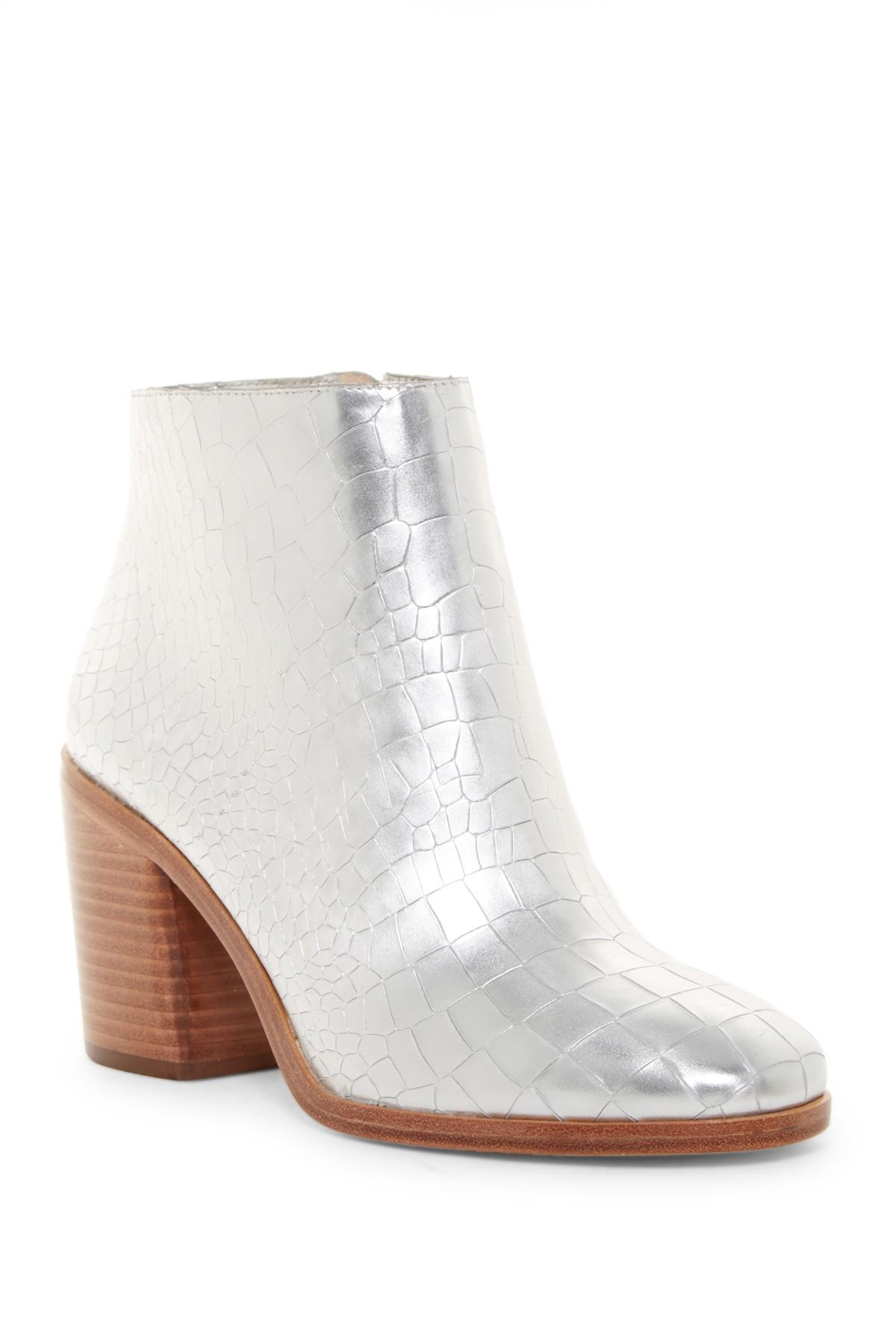 ac4bcaf7cfcd Lyst - Pour La Victoire Winona Croc Embossed Boot in Metallic