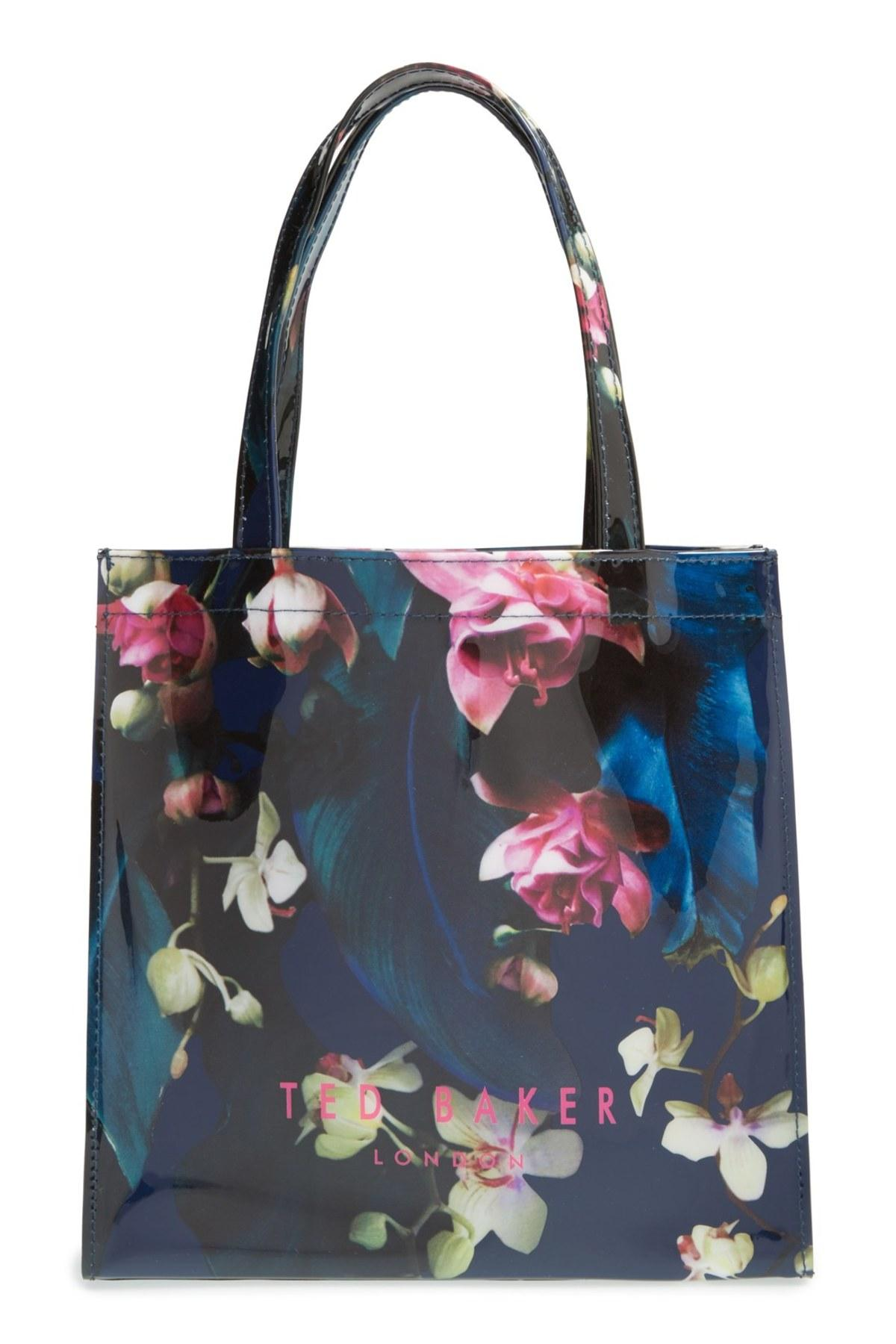 Ted Baker Small Icon Floral Tote In Blue | Lyst