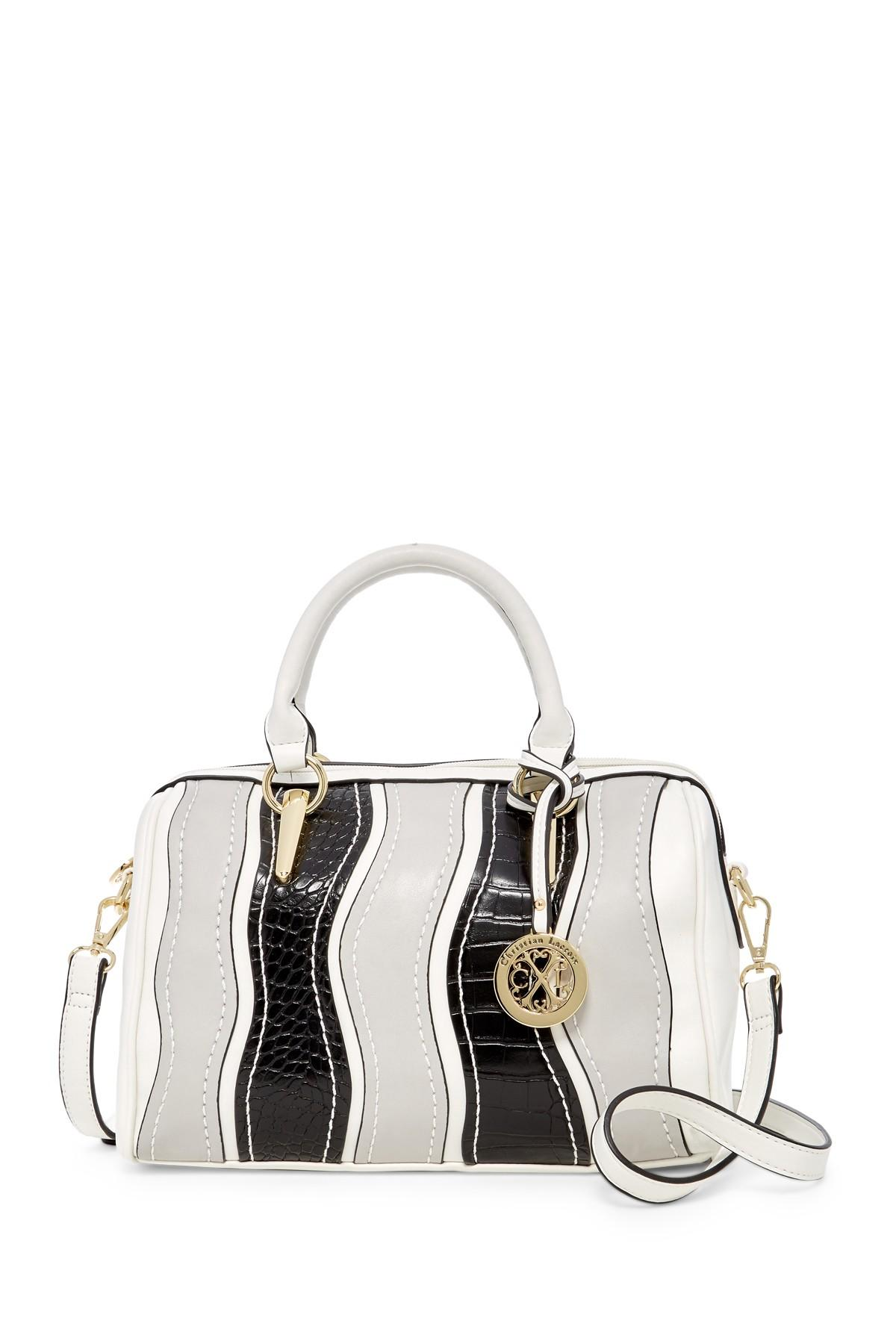 letter man jacket lyst cxl by christian lacroix willa speedy satchel in white 17553
