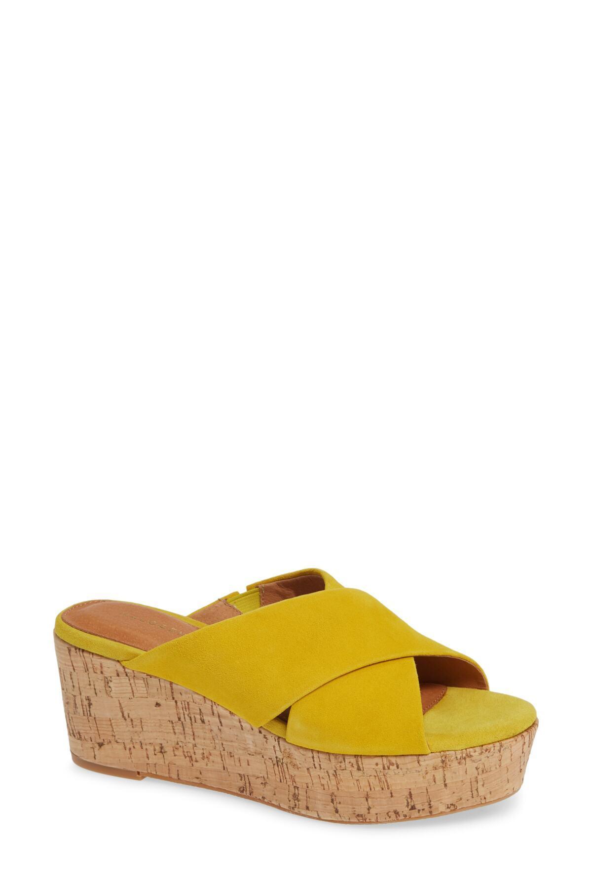 1c04487c8d2 Lyst - Halogen (r) Elena Platform Wedge Sandal (women) in Yellow