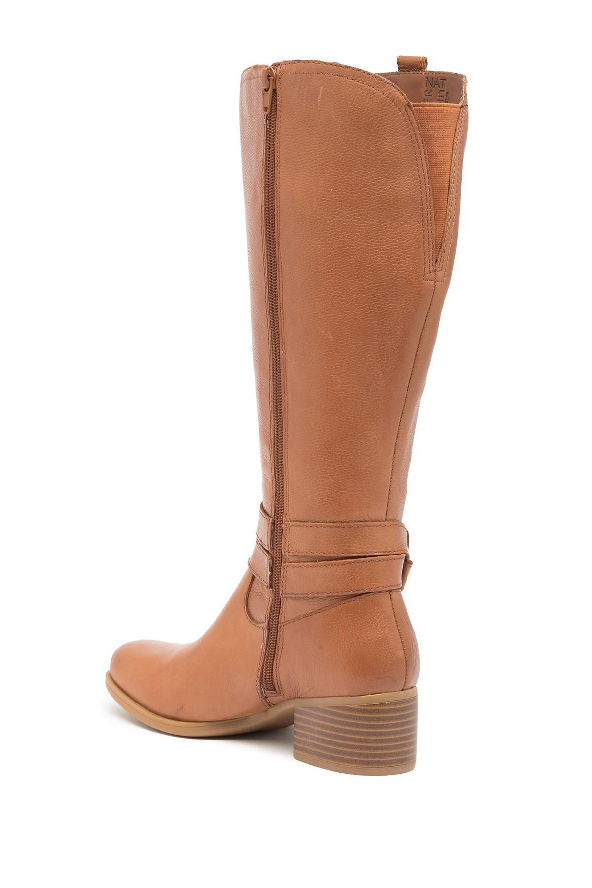 9794ce8002ee Naturalizer - Brown Kim Ankle Strap Leather Boot - Wide Width Available -  Lyst. View fullscreen
