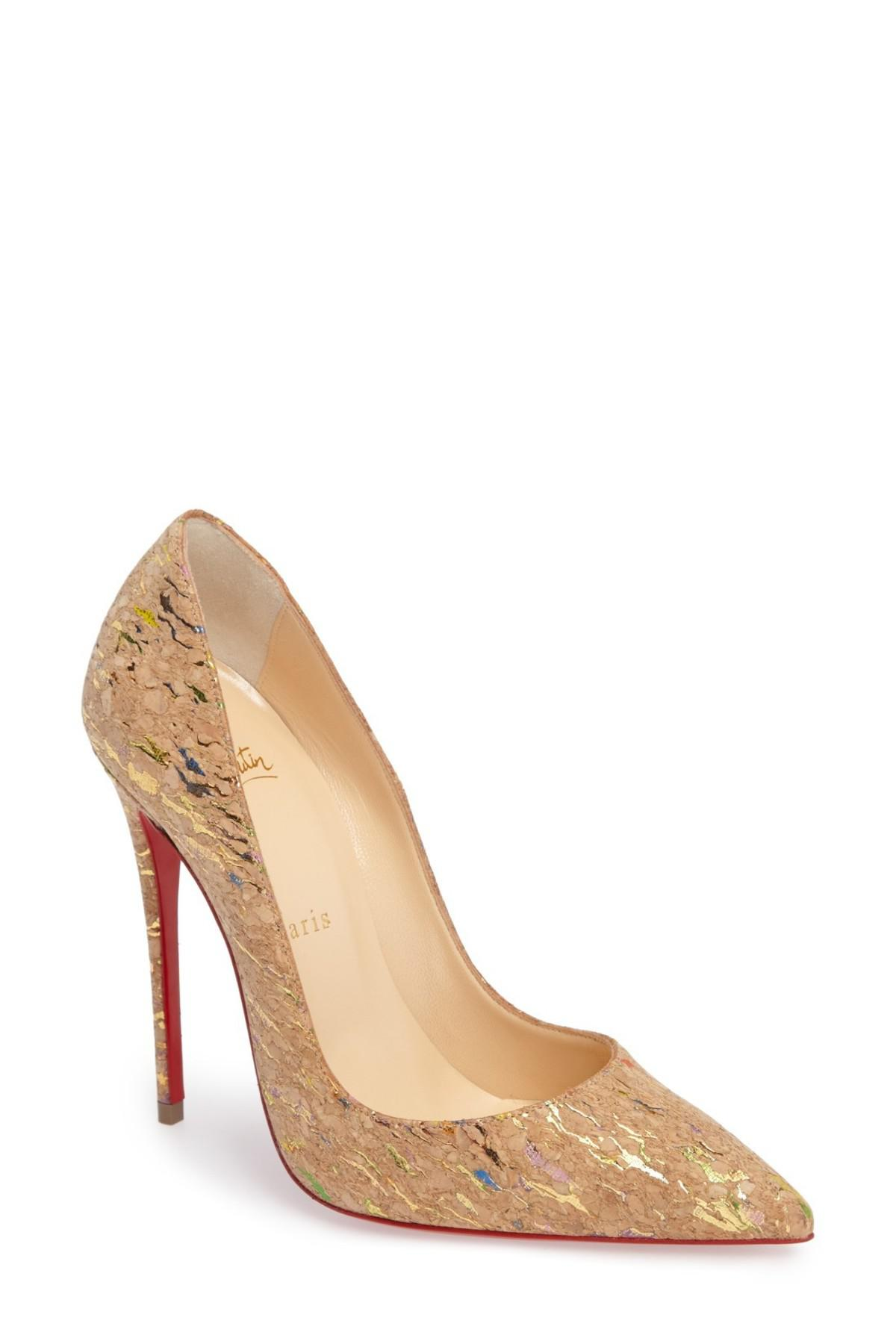 be2db13a4a9 Lyst - Christian Louboutin  so Kate  Pointy Toe Pump in Natural