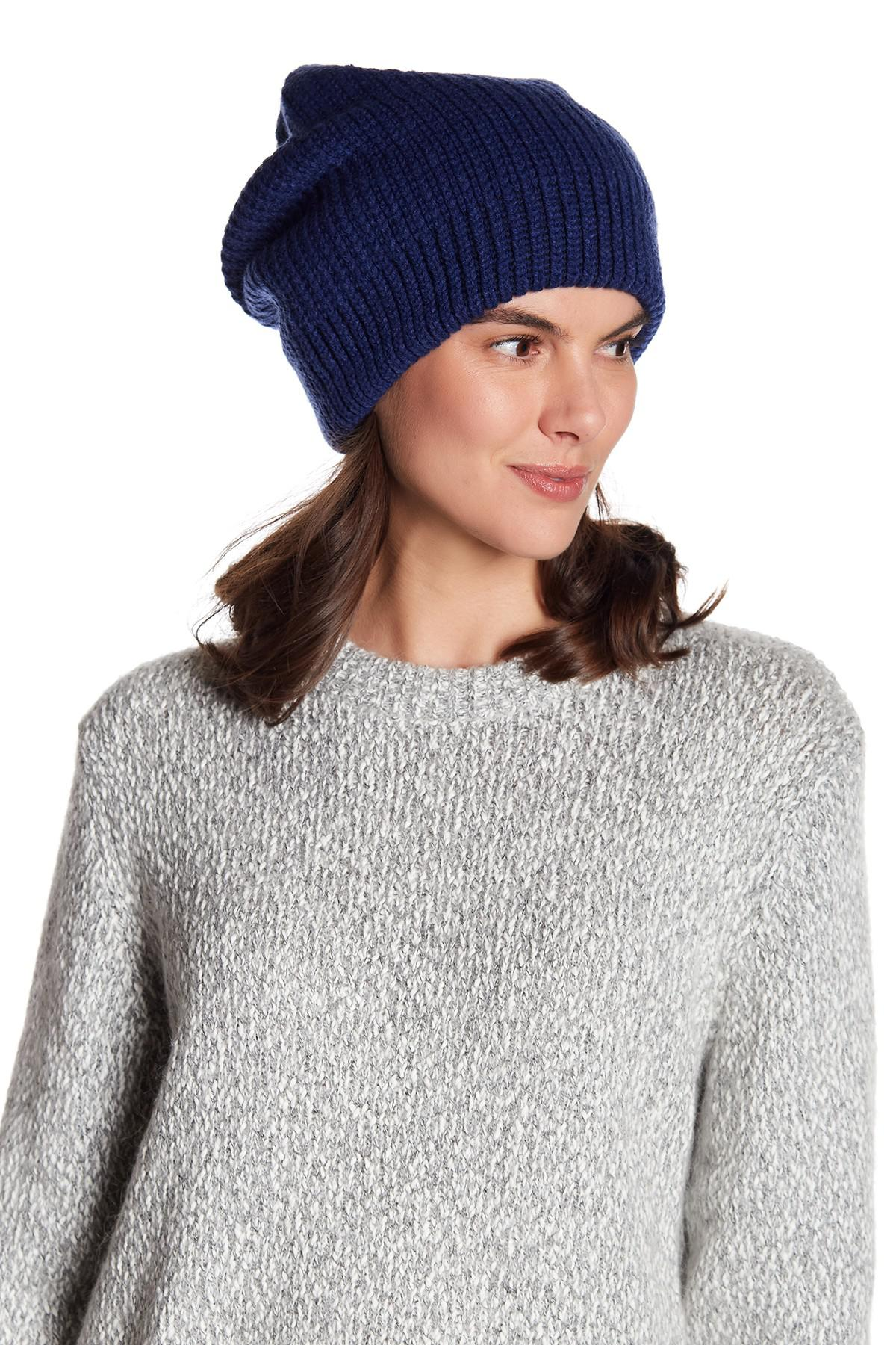 Free People Everyday Slouchy Beanie in Blue - Lyst 843c53cbaf0