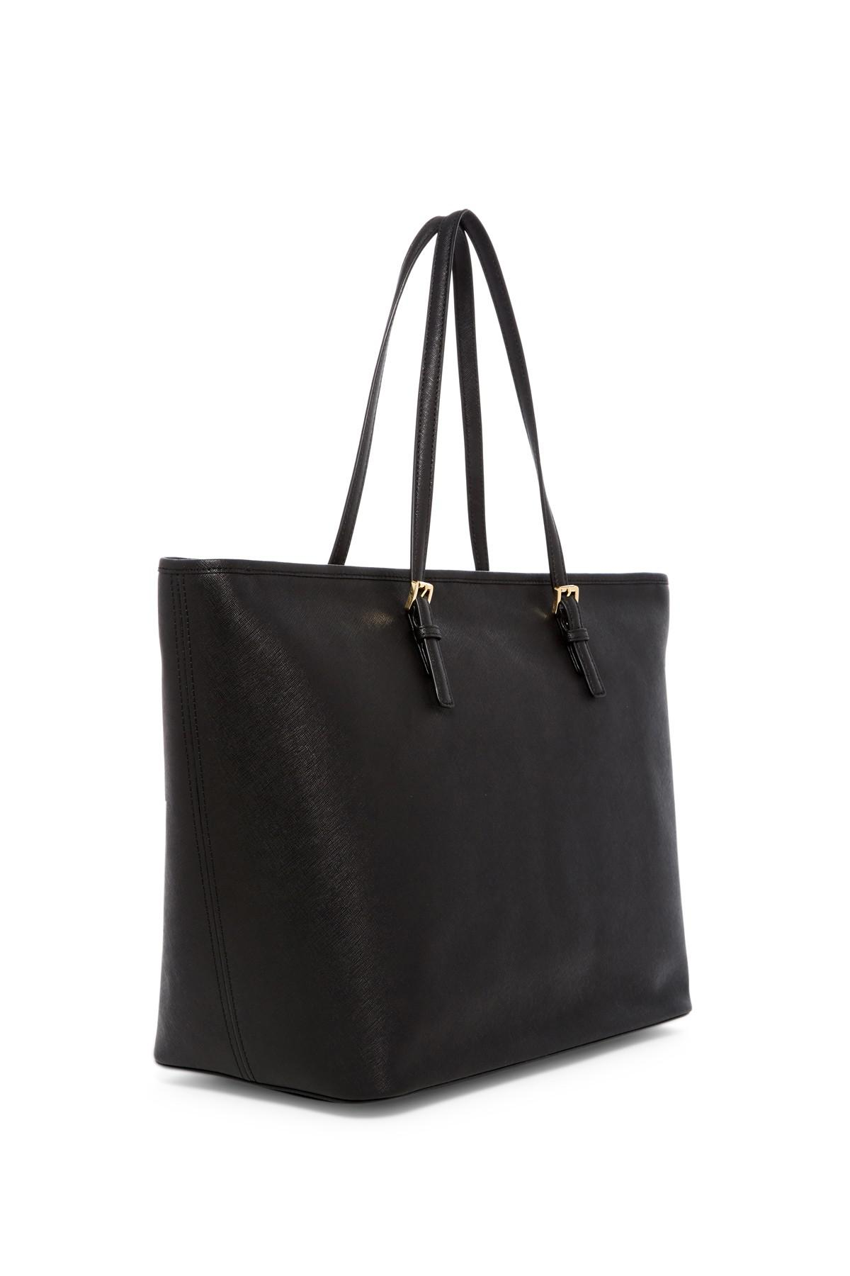 7f9104d21f54 MICHAEL Michael Kors Jet Set Extra Large Travel Tote in Black - Lyst